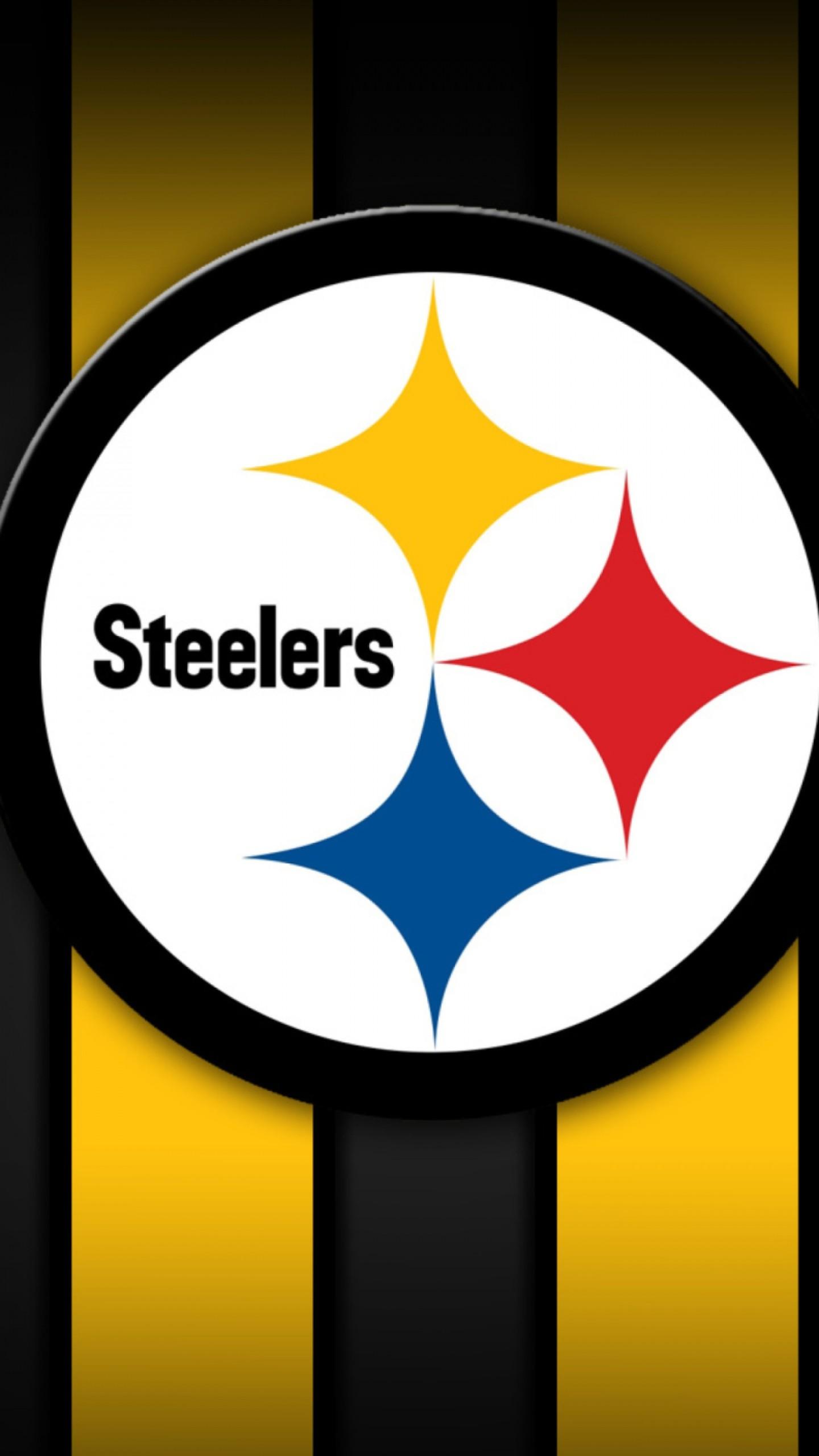 Preview wallpaper pittsburgh steelers, american football, logo 1440×2560