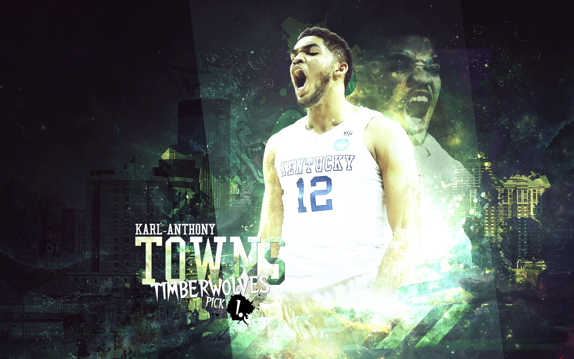 Karl Anthony Towns Kentucky Wildcats Background.