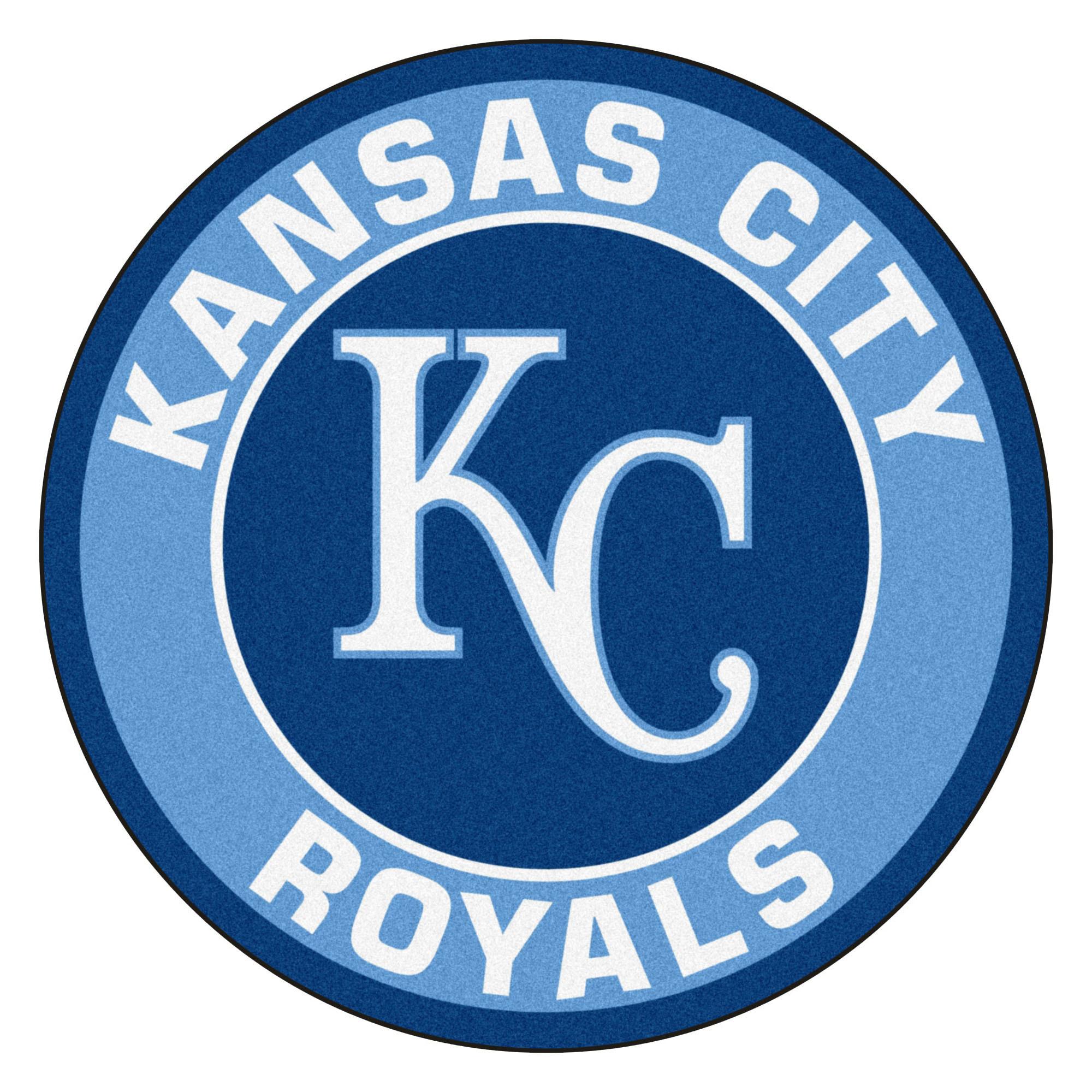 "Kansas City Royals Logo Roundel Mat – 27"" Round Area Rug"