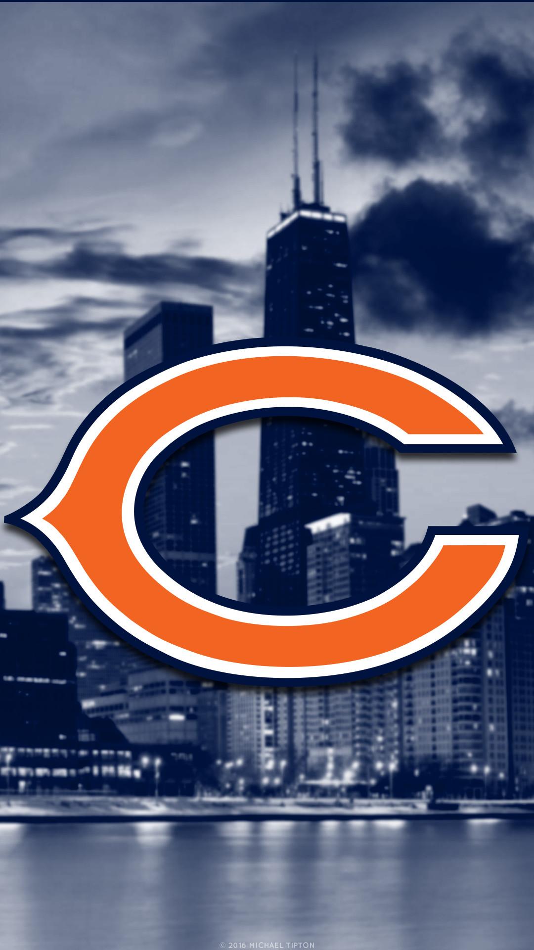 Chicago Bears 2017 football logo wallpaper pc desktop computer. Desktop PC  | iPhone | Android