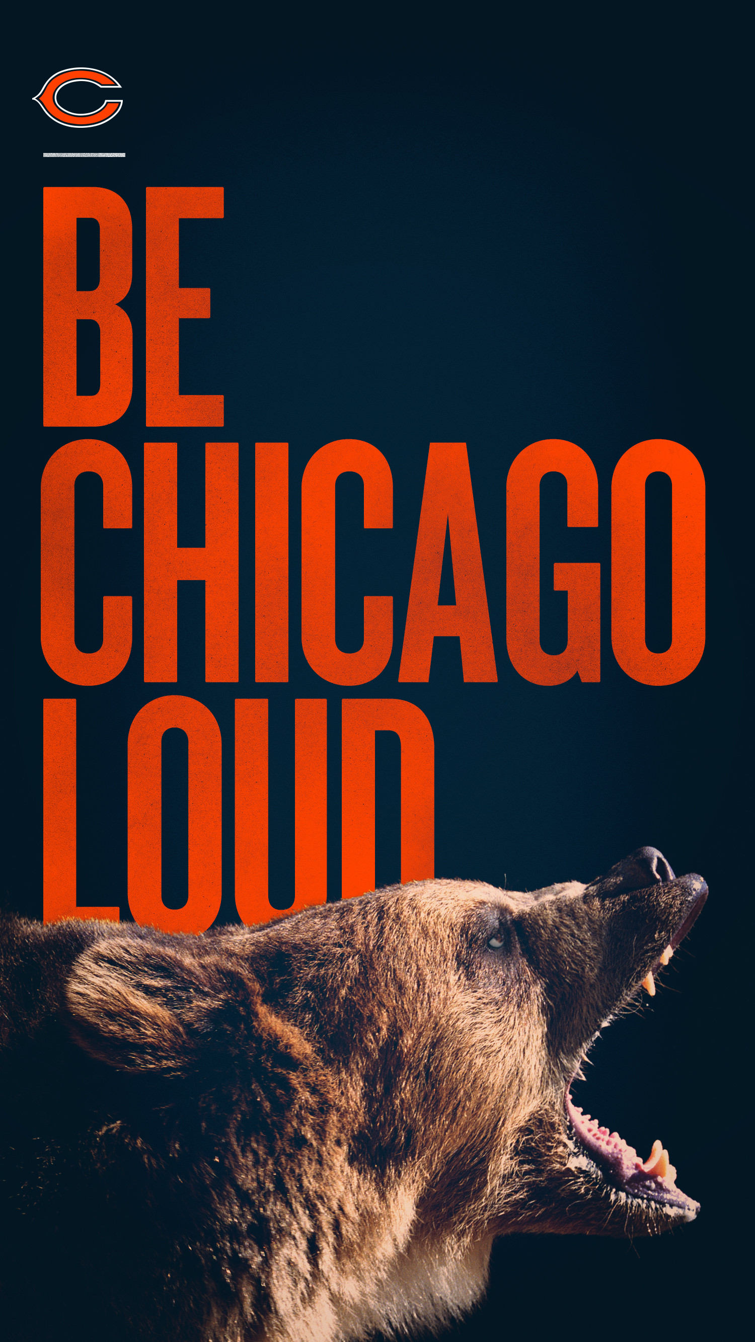 Shout it out and let the world know with this Chicago Bears smartphone  wallpaper from