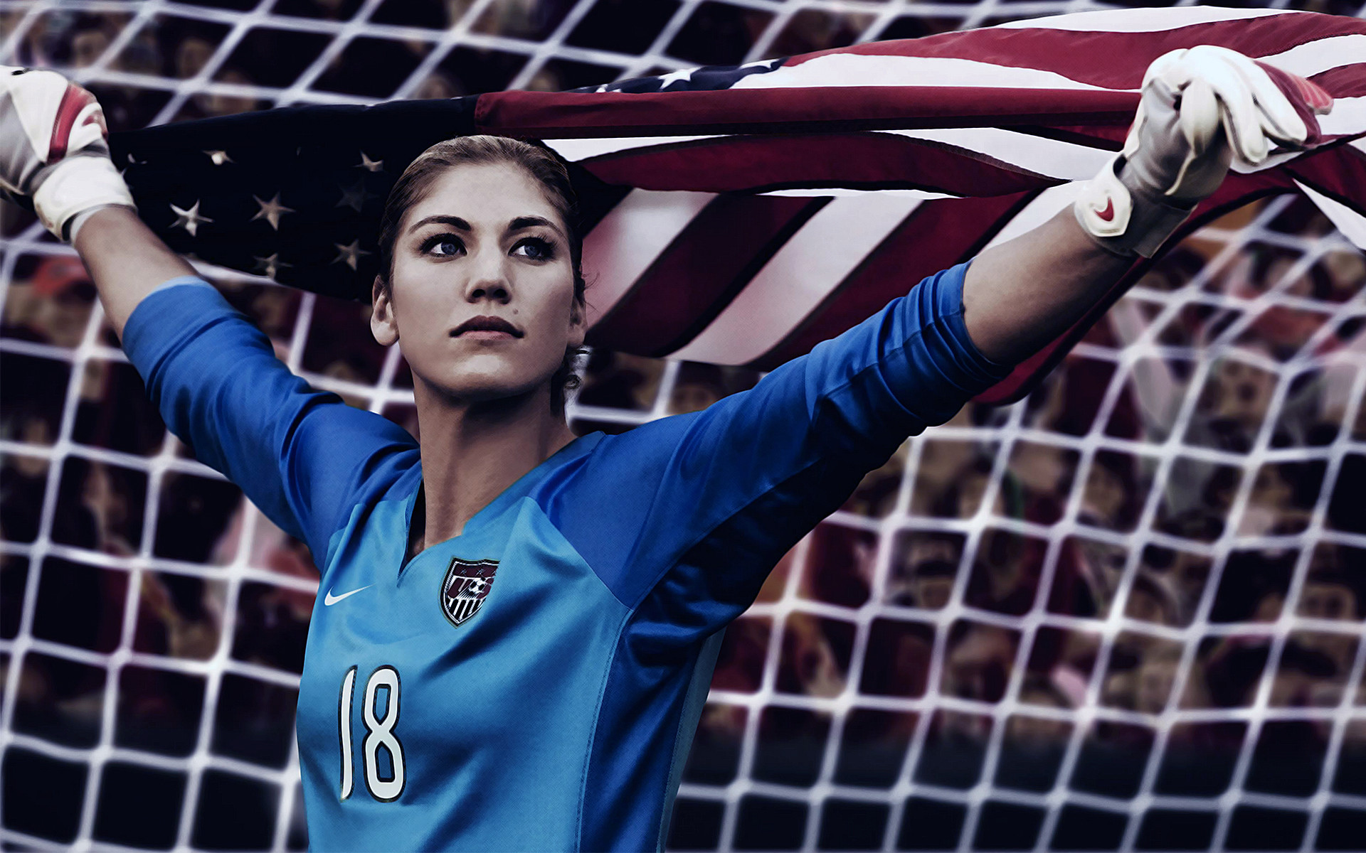 Hope Solo, American Soccer Player And Two-Time Olympic Gold Medalist .