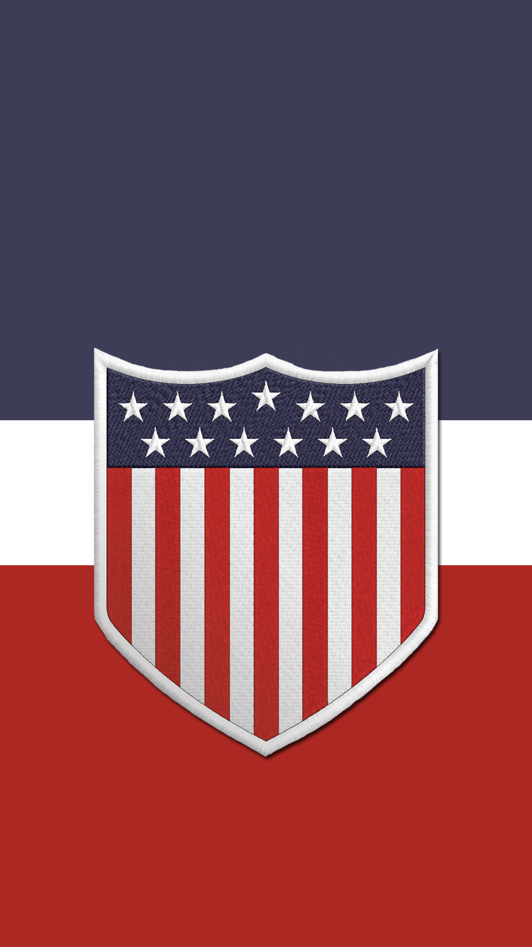 Another US soccer phone wallpaper. Centennial crest this time.