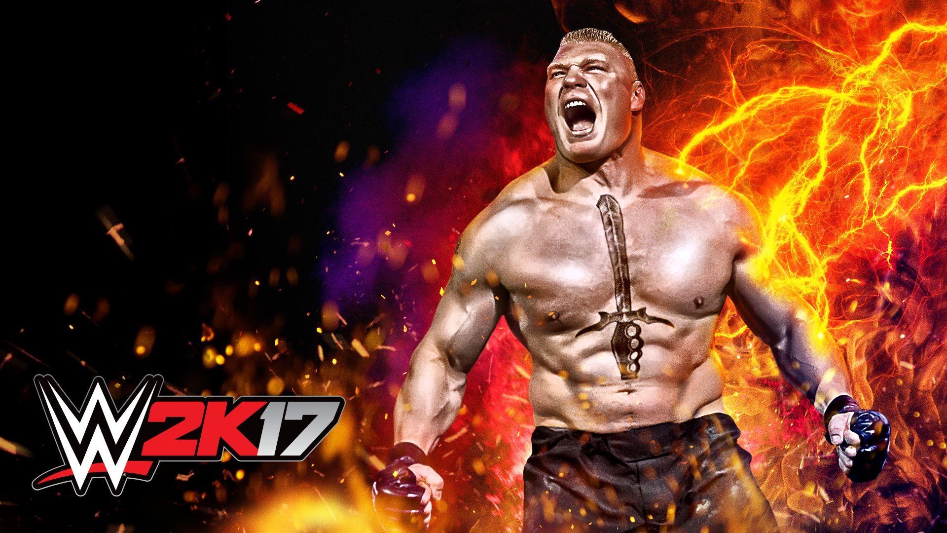 WWE 2K17 Brock Lesnar Wallpaper (Cover Art) …