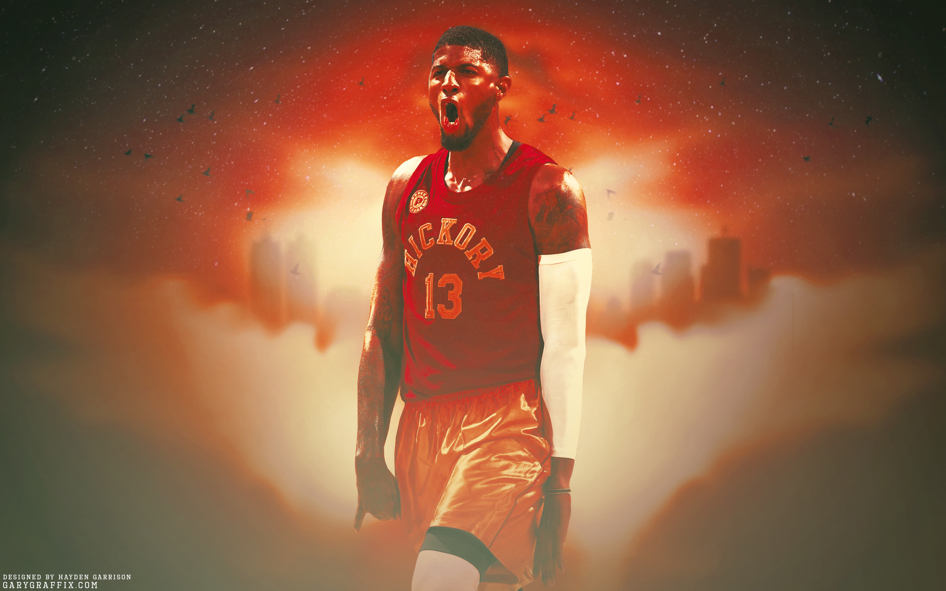 """Paul George Inidana Pacers """"My City"""" Wallpaper"""