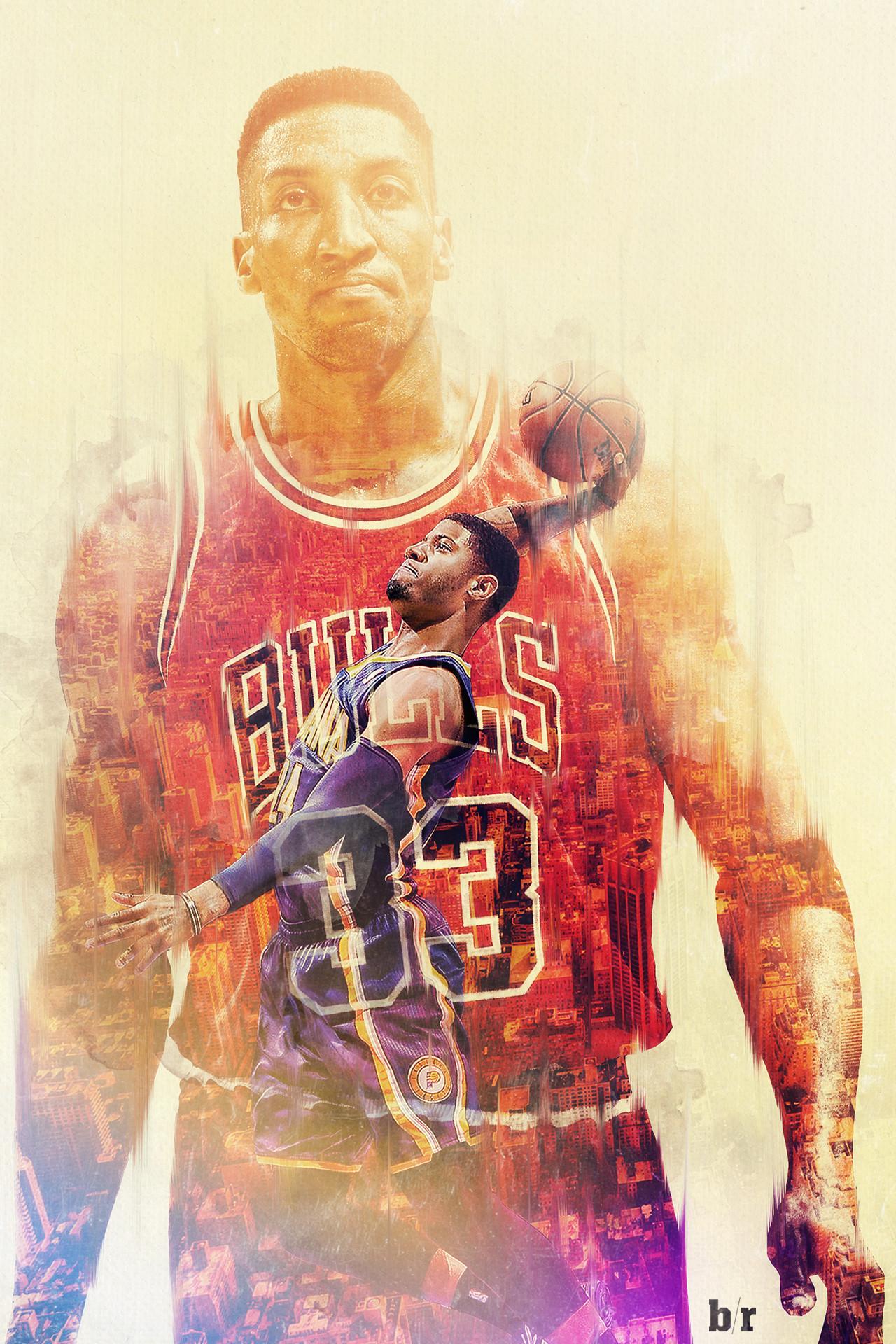 Scottie Pippen Paul George. Download Wallpaper