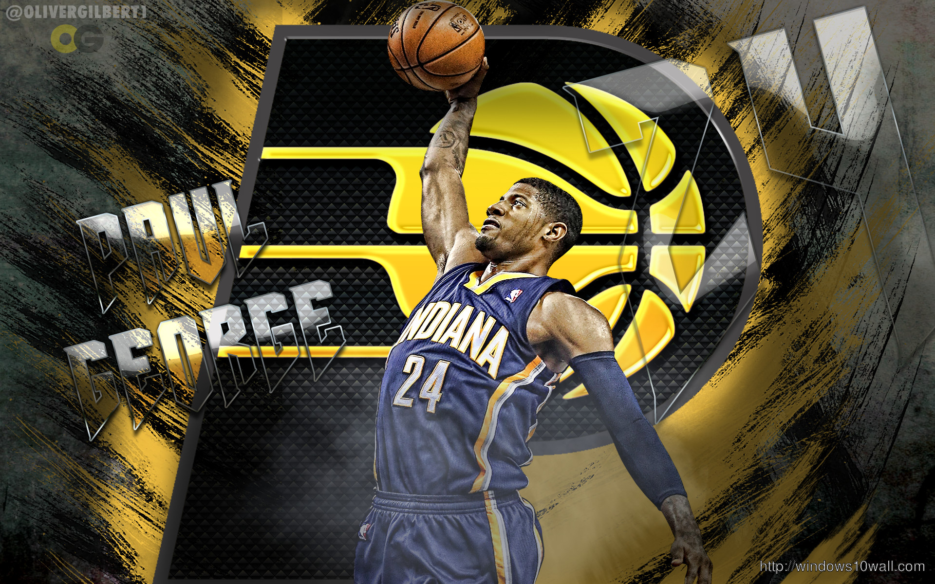 Paul George Indiana Pacers Dunk Wallpaper
