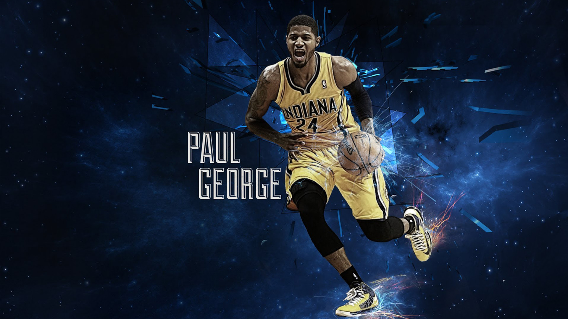 Paul George Indiana Pacers NBA Players HD Wallpaper Free.
