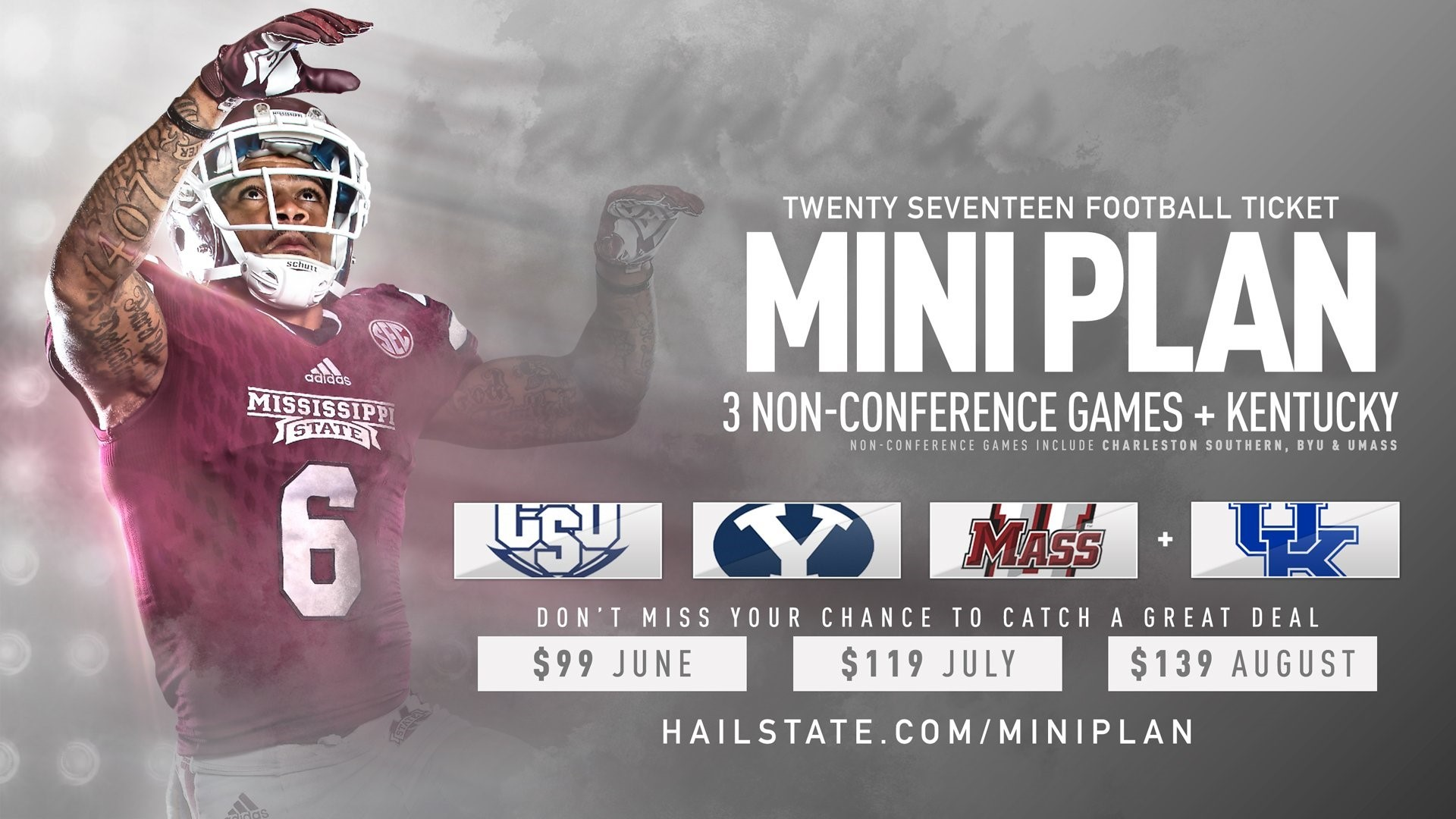 Football Ticket Mini-Plans on Sale Now, Special $99 in June