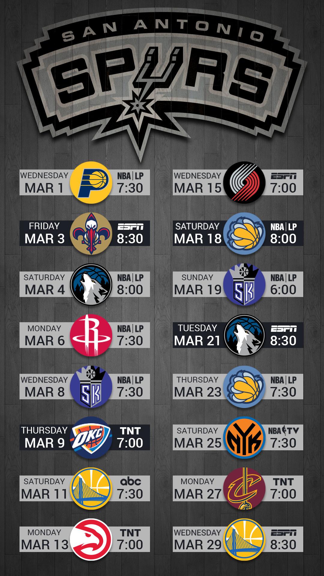 San Antonio Spurs 2017 Mobile lock screen wallpaper for iPhone, Android,  Pixel