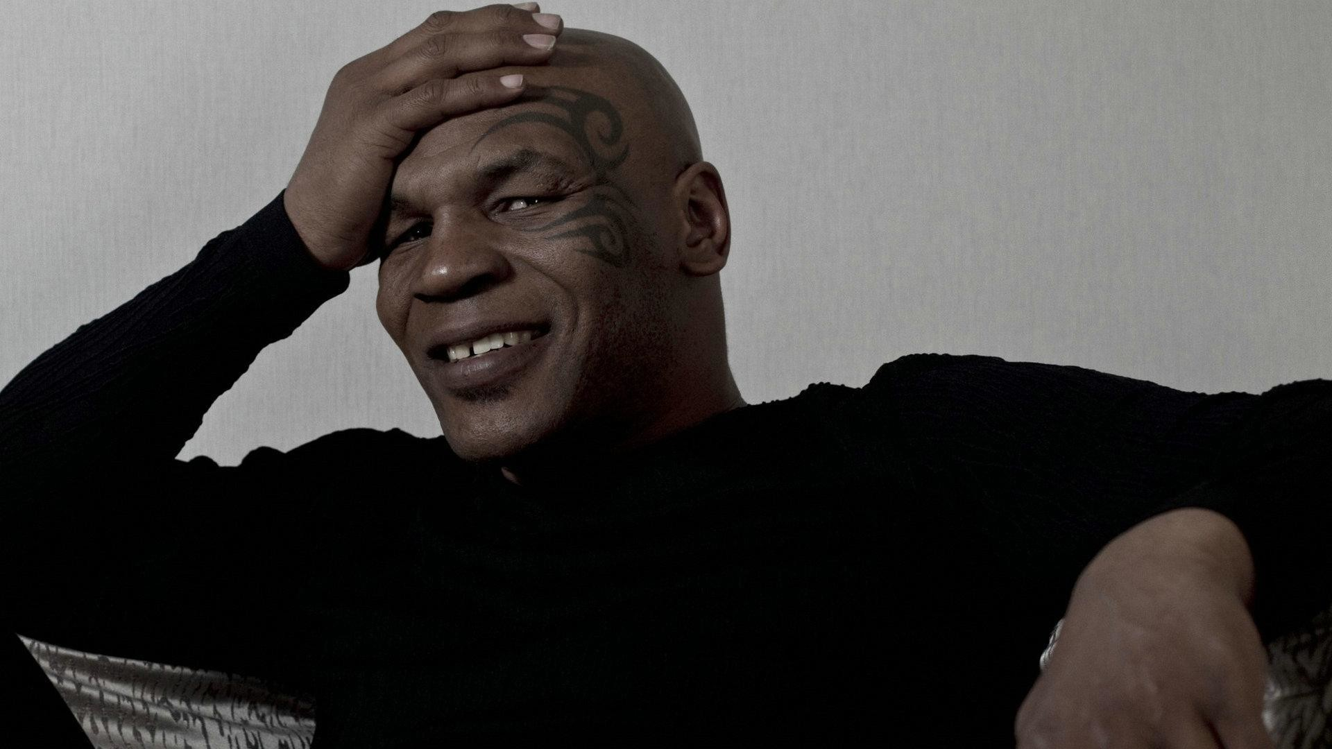 Preview wallpaper mike tyson, boxing, boxer, tattoos, smile 1920×1080