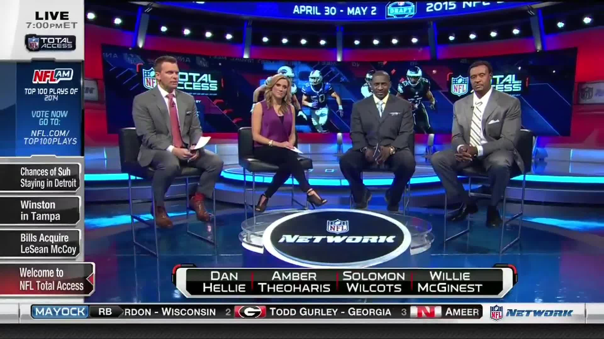 The NFL Total Access team discuss the possibility that the Philadelphia  Eagles have a trade in