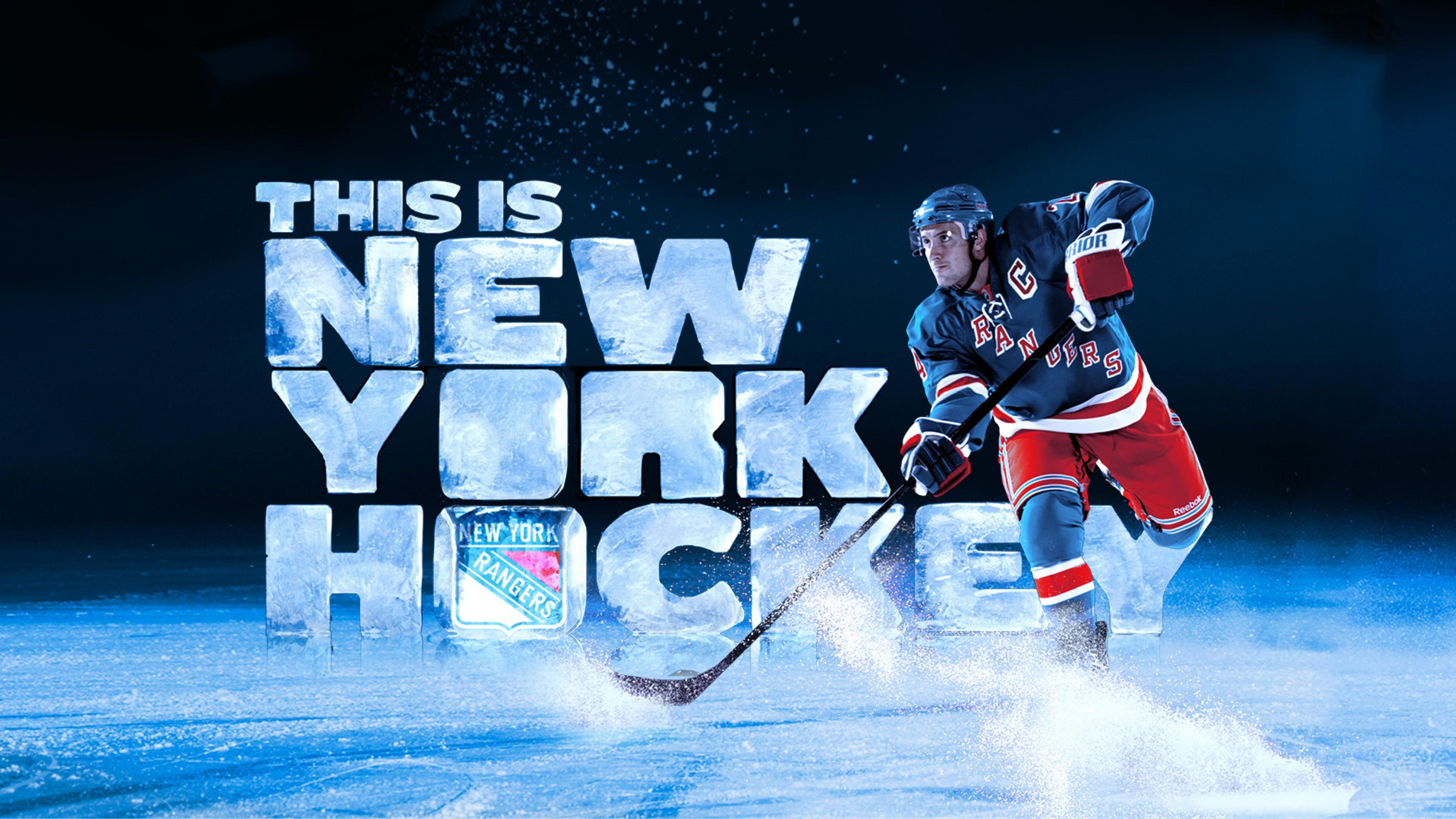 Preview wallpaper ew york rangers, hockey, ice hockey, ice 3840×2160