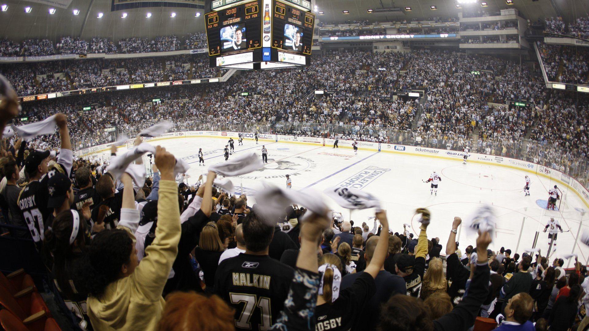 NHL ice hockey Pittsburgh Penguins Ottawa Senators wallpaper .