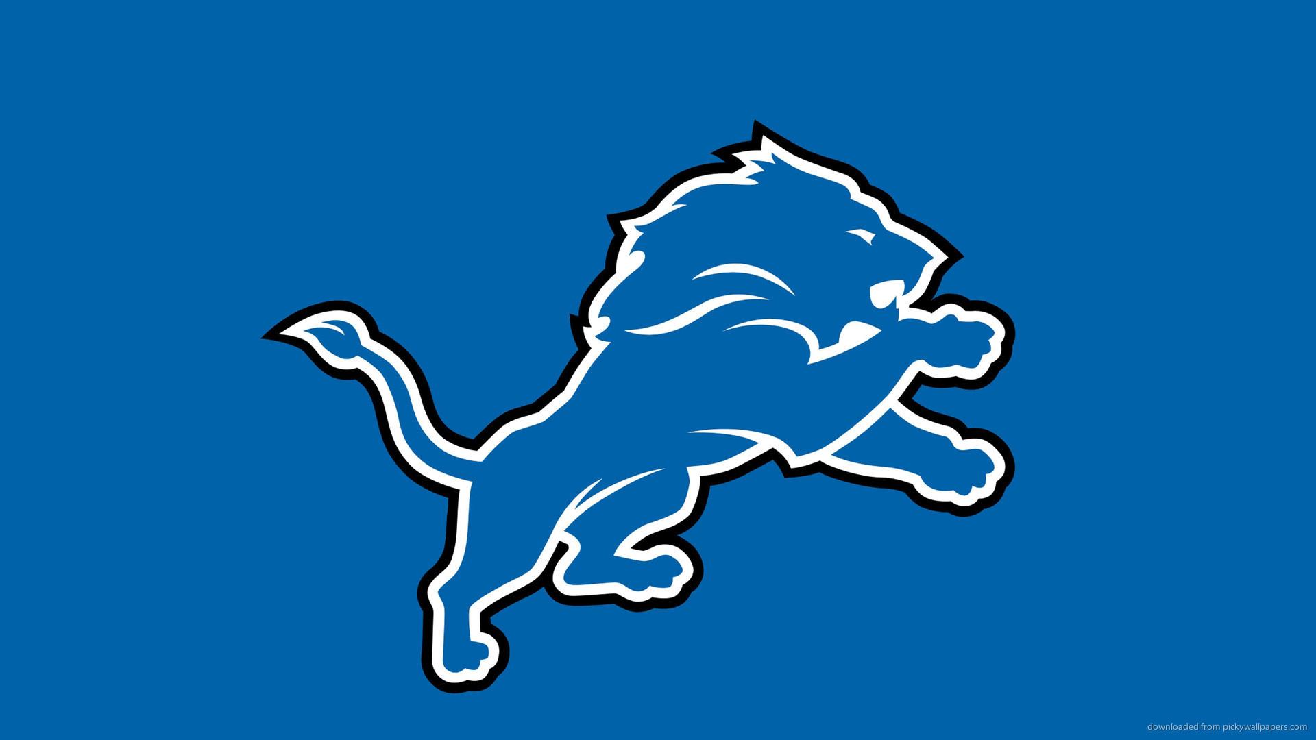 Detroit Lions Logo On A Blue Background picture