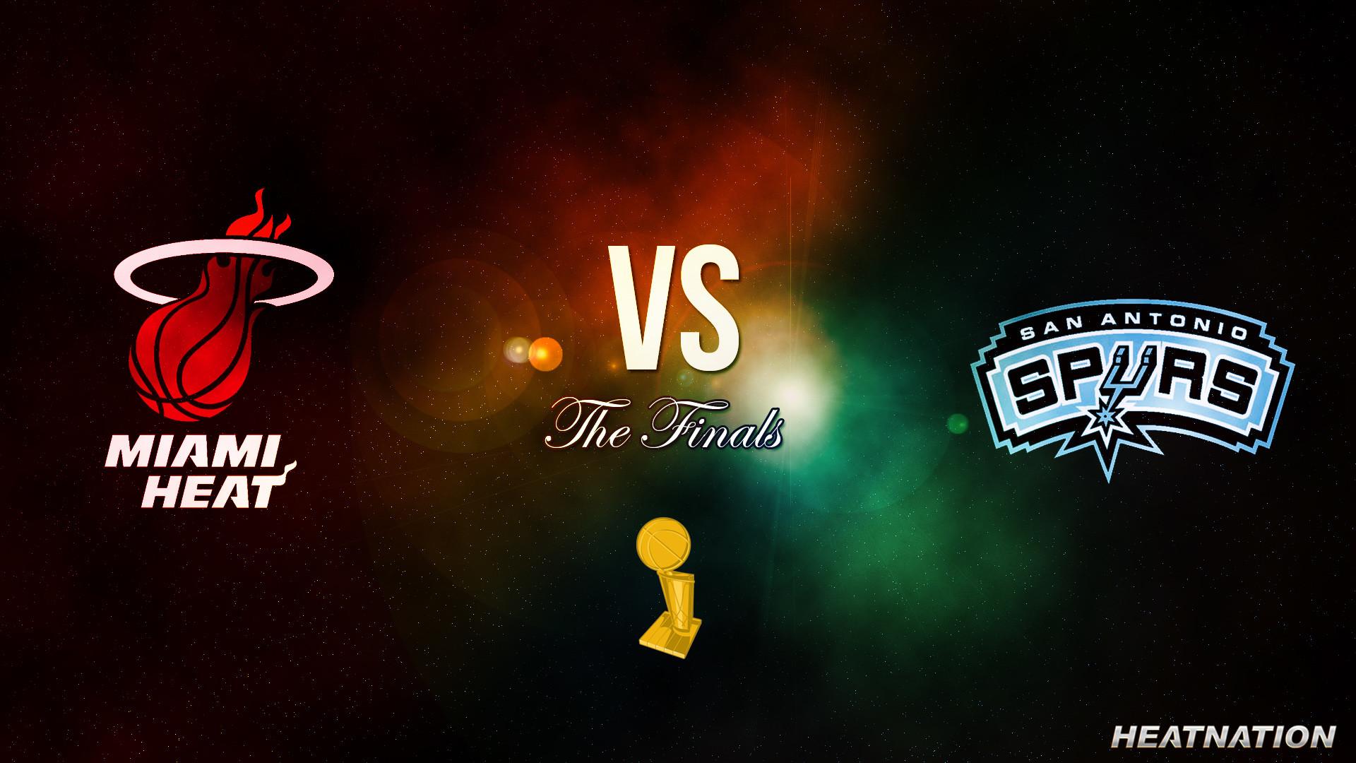 Miami Heat vs San Antonio Spurs NBA Finals Wallpaper – Heat Nation