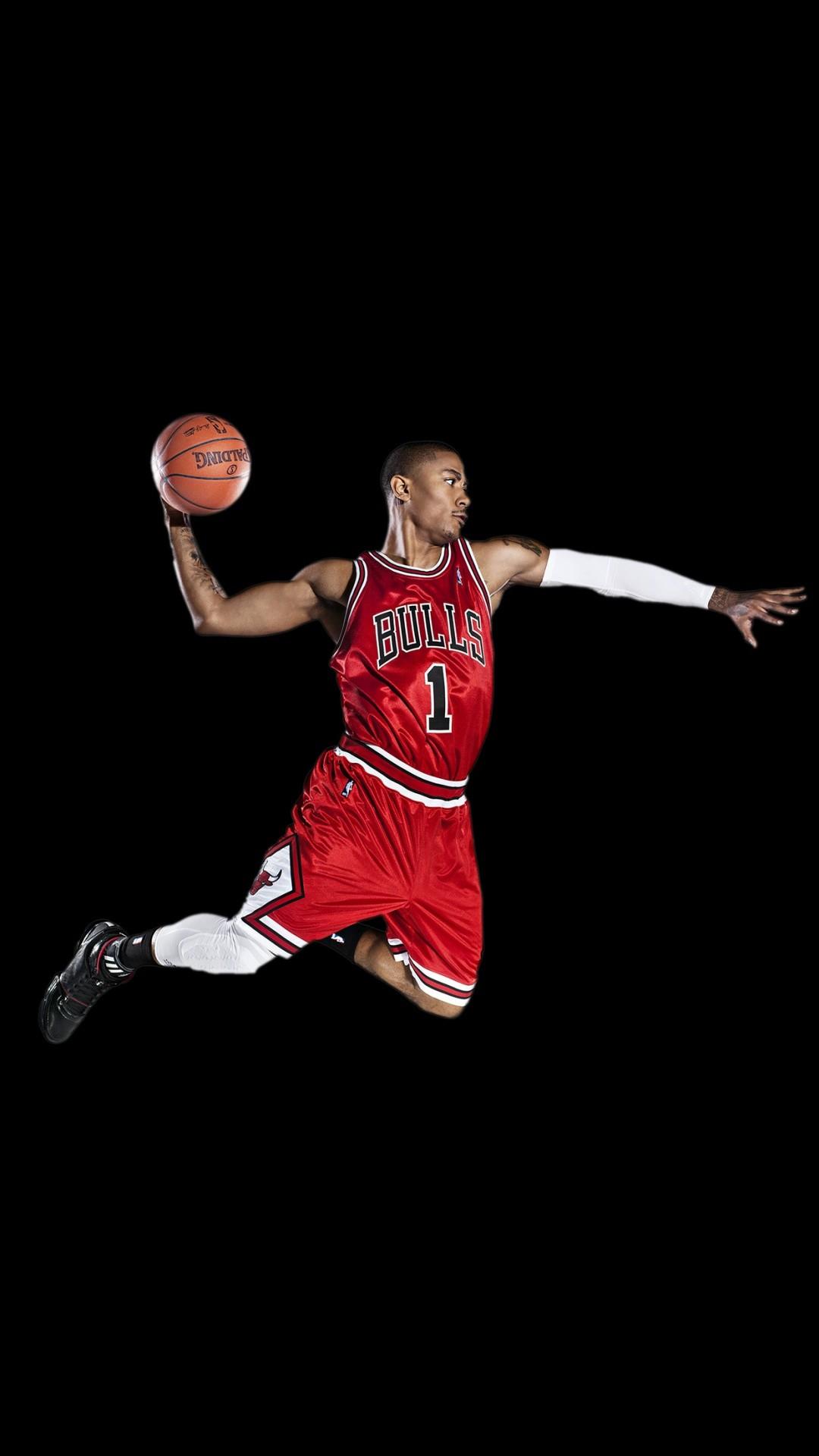 Chicago Bulls Derrick Rose iPhone 6+ HD Wallpaper – https://freebestpicture.
