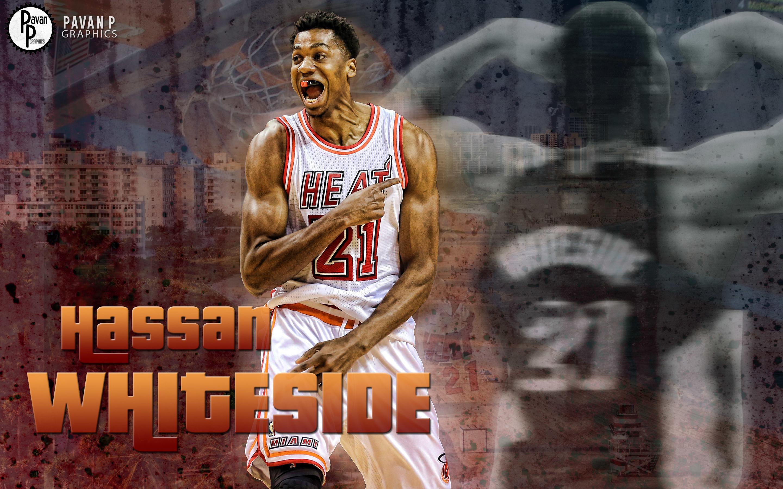 Hassan Whiteside Miami Heat 2016 Wallpaper