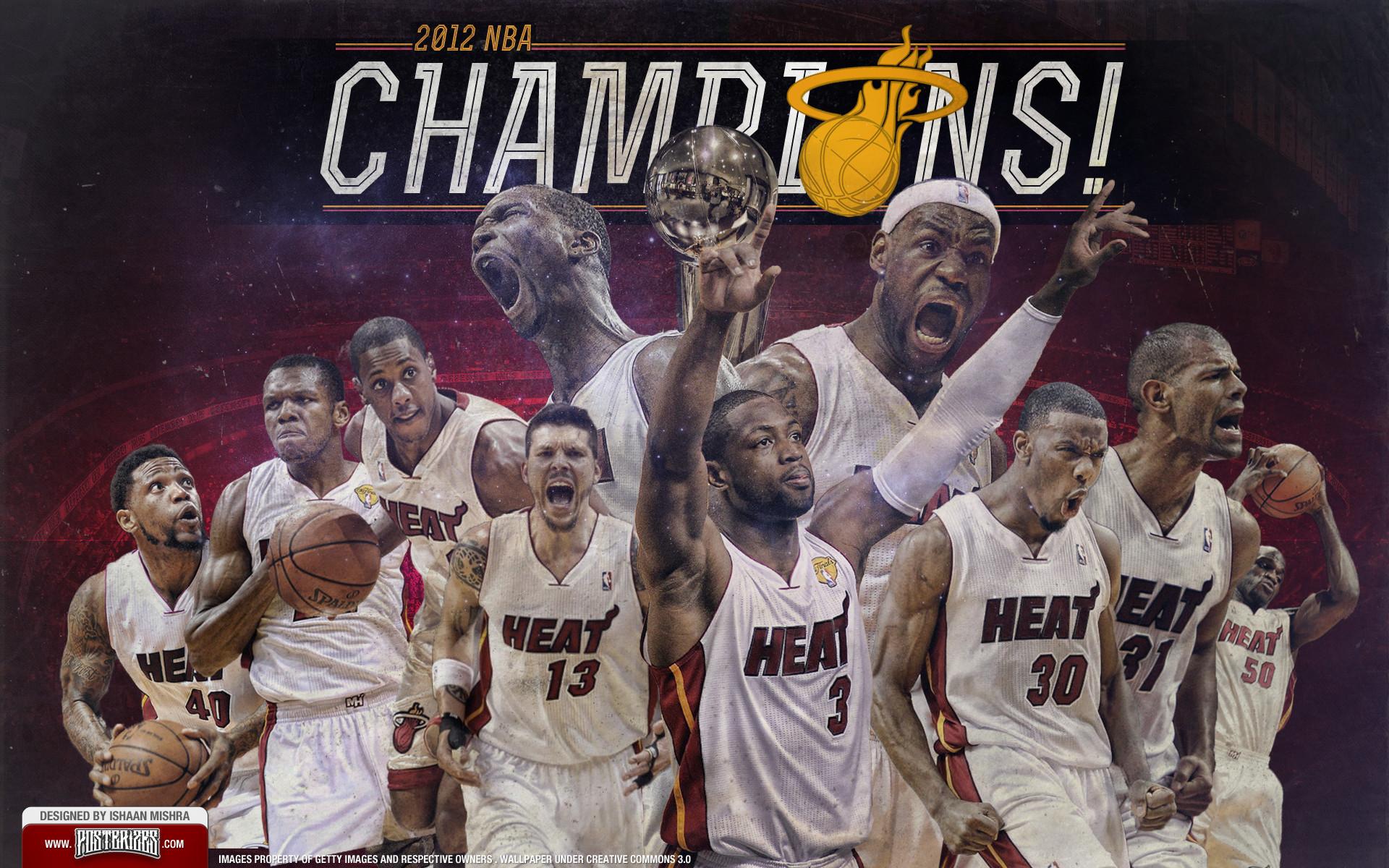 Miami Heat 2012 Champions Team Wallpaper by IshaanMishra on DeviantArt