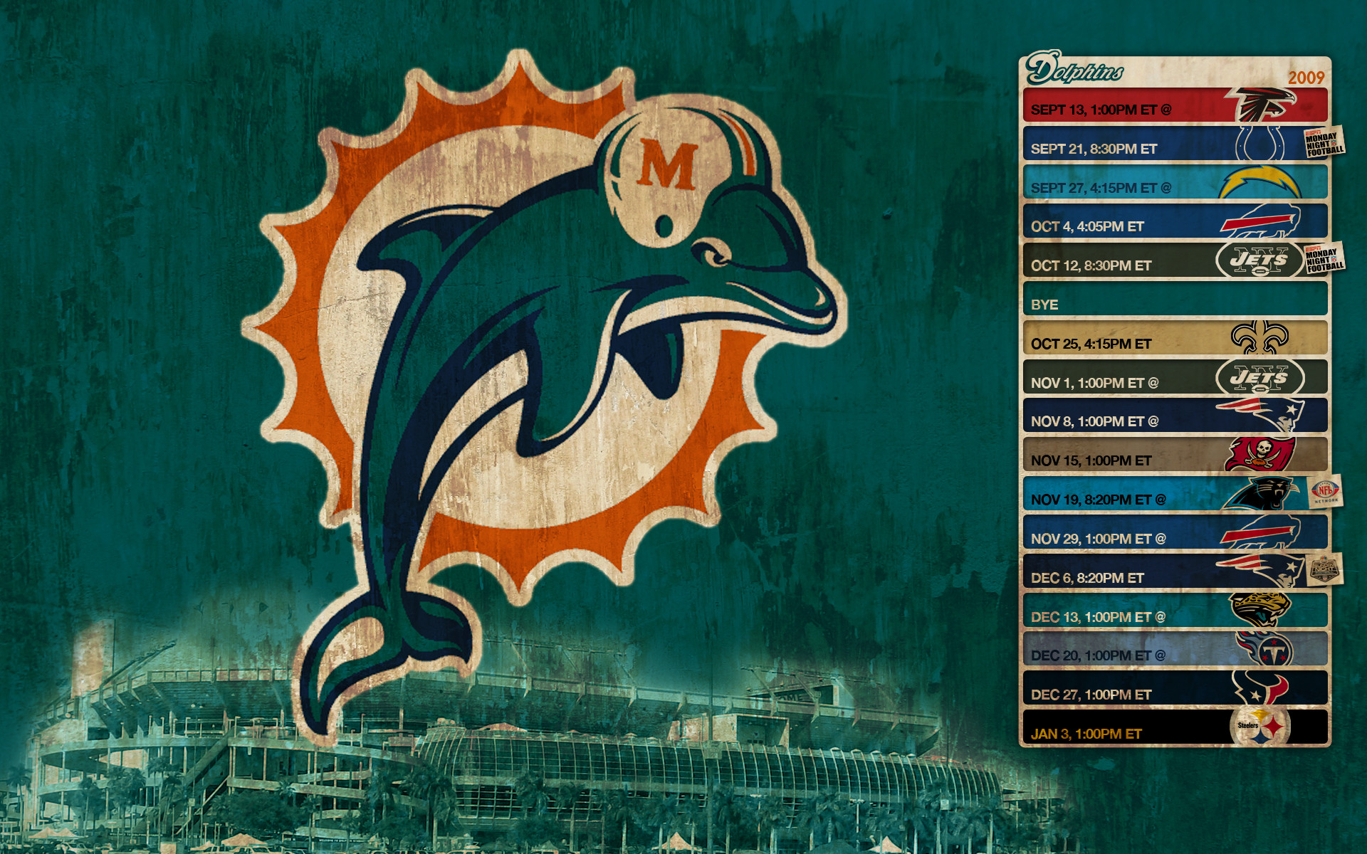 Miami Dolphins Wallpaper HD Wallpaper 1080p