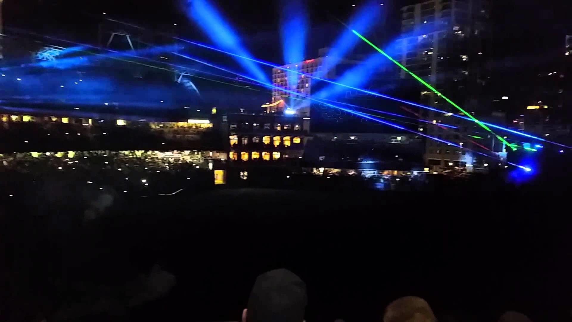 San Diego Padres Laser Show 04/11/15