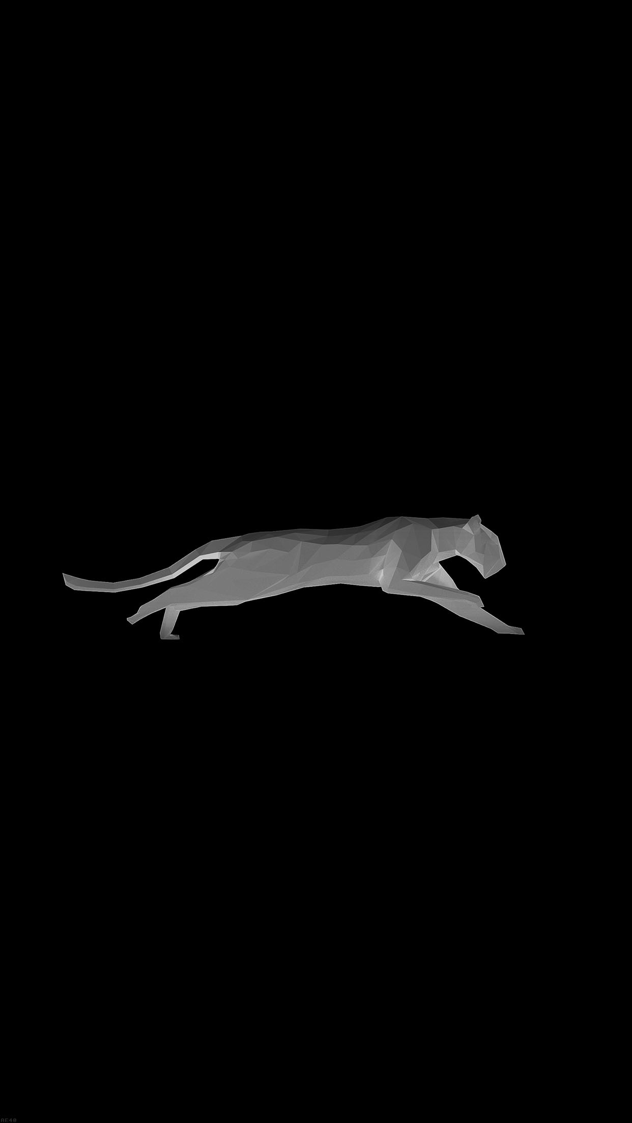 Running Puma Black Illust Art Minimal #iPhone #6 #wallpaper