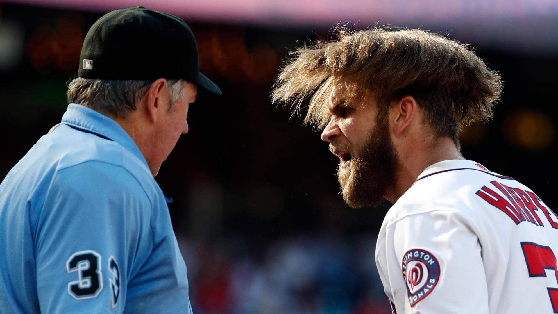 Bryce Harper ejected after arguing called third strike