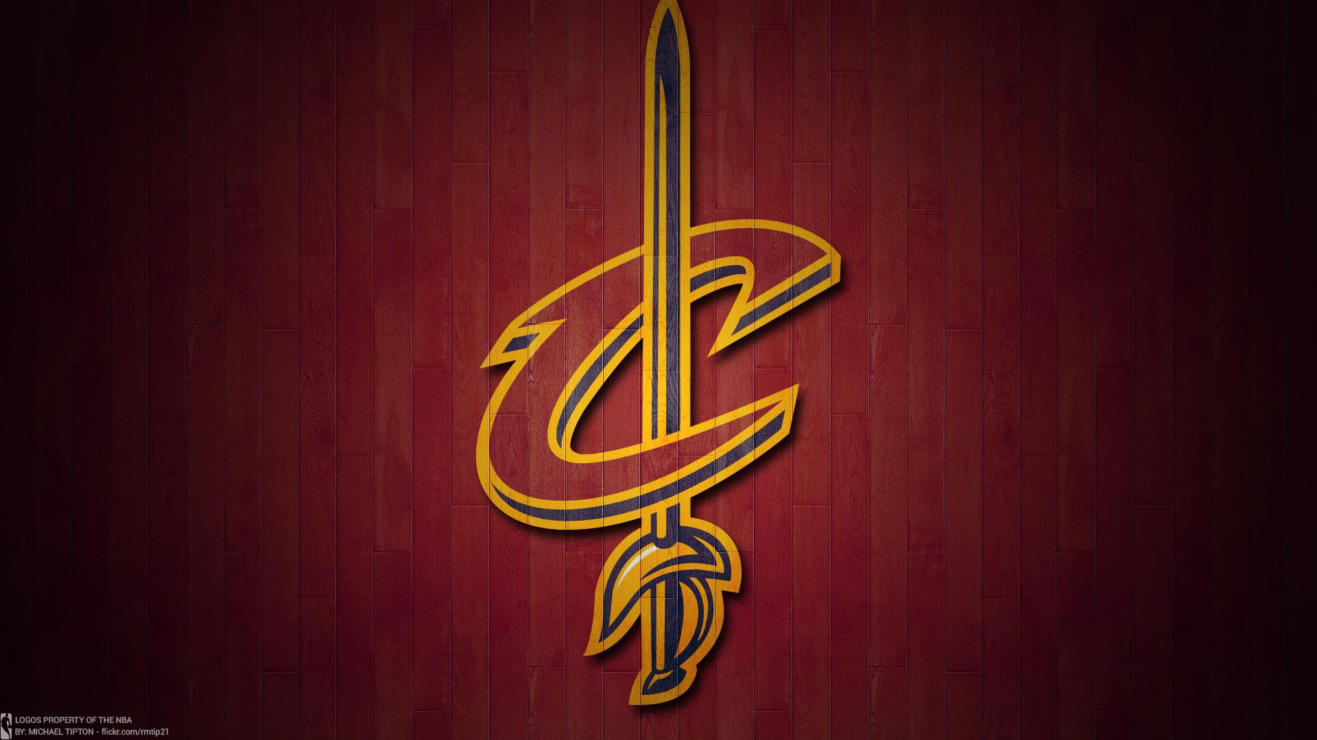 NBA 2017 Cleveland Cavaliers hardwood logo desktop wallpaper