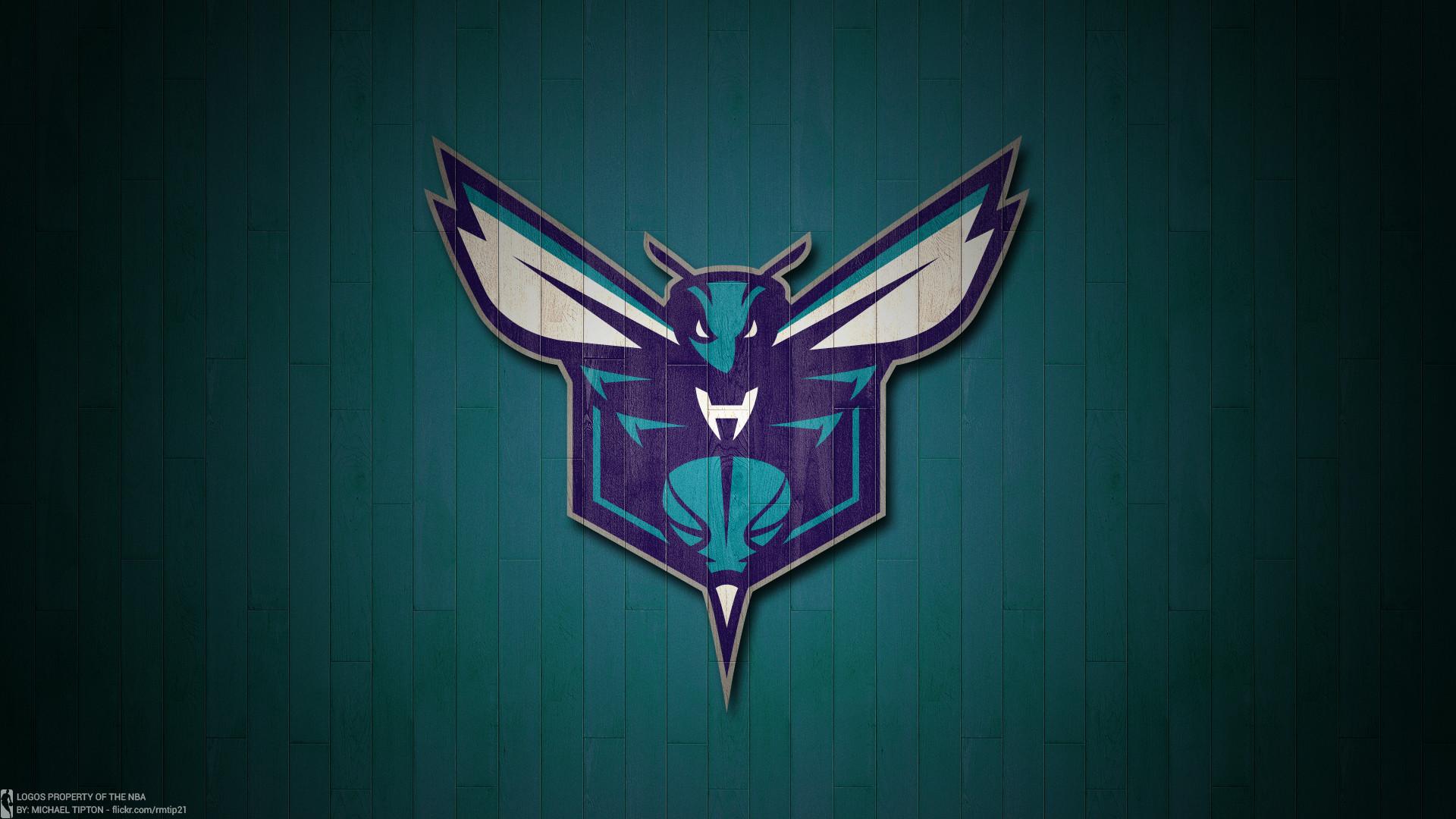 NBA 2017 Charlotte Hornets hardwood logo desktop wallpaper