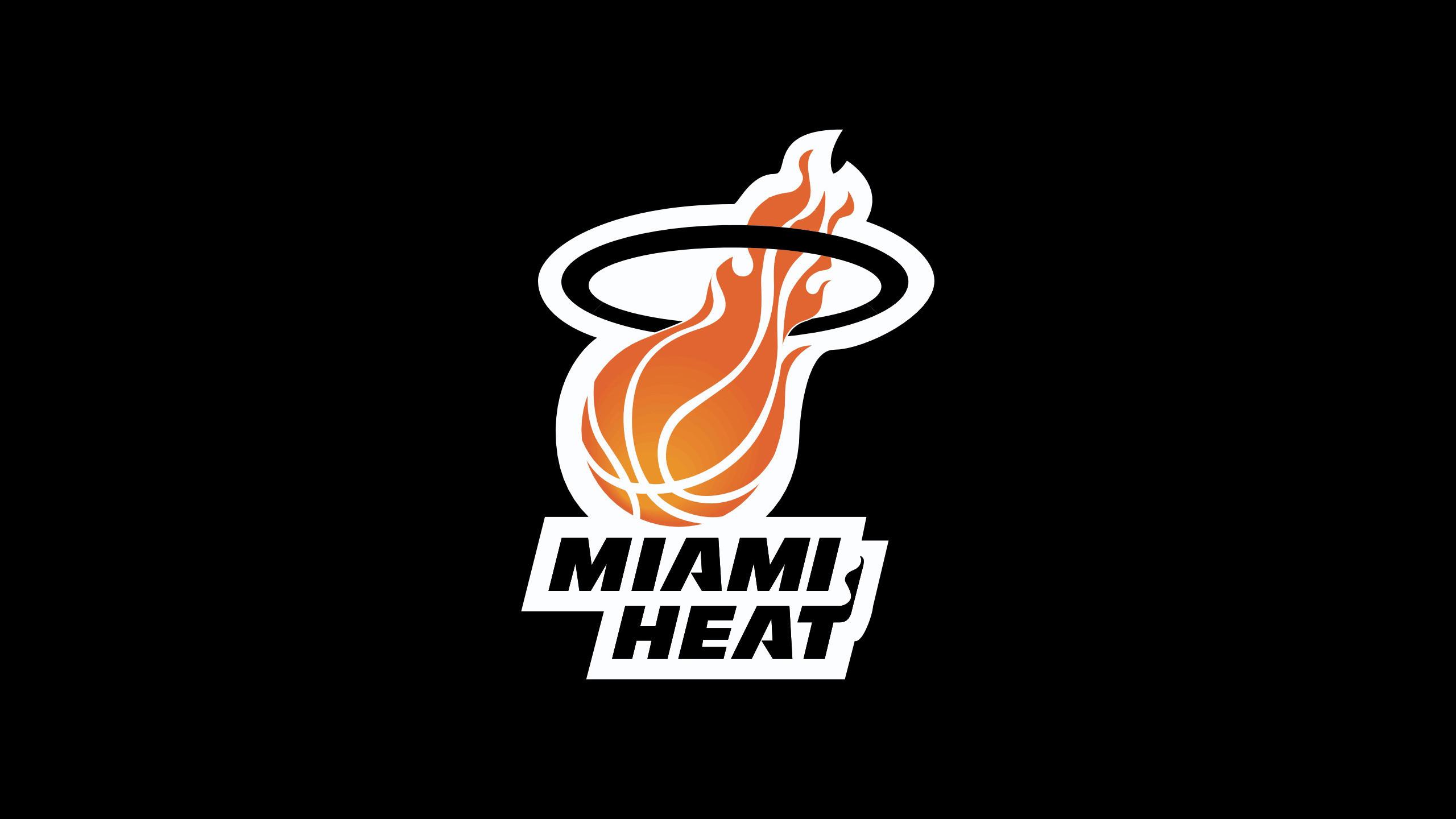 NBA miami heat team logo black wallpapers.