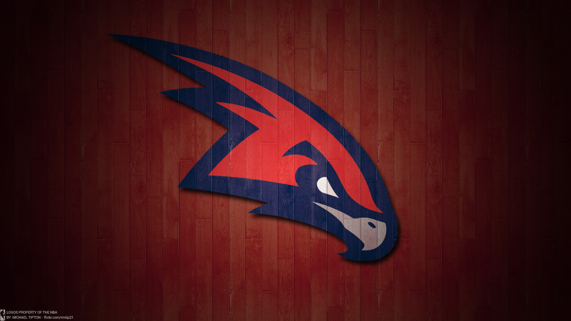 NBA 2017 Atlanta Hawks hardwood logo desktop wallpaper