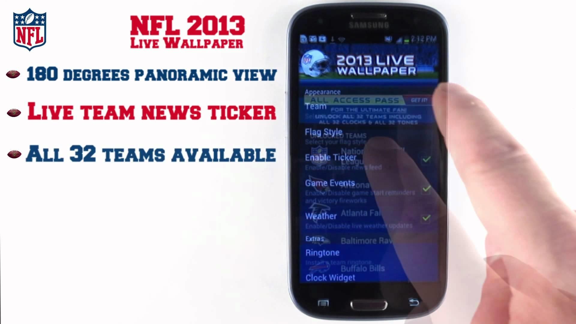 NFL 2013 Live Wallpaper