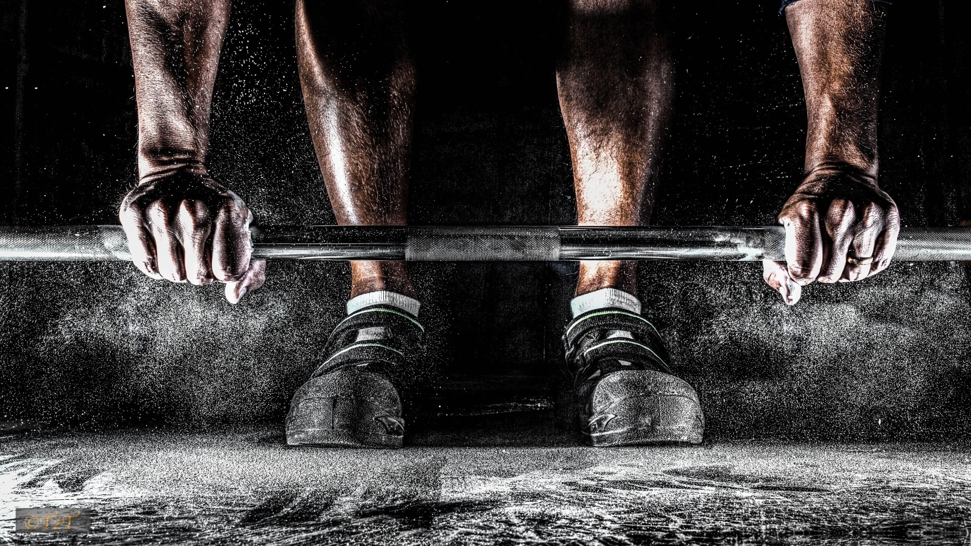 Barbell on the floor, lifting – HD wallpaper download. Wallpapers .
