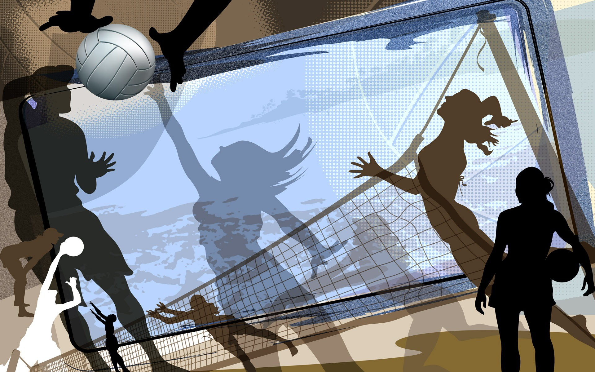 Sports Volleyball Abstract Wallpaper
