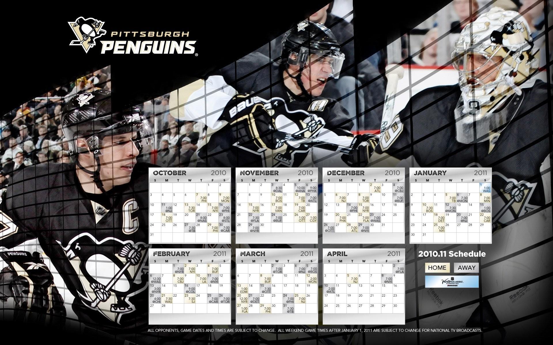 Pittsburgh Penguins Schedule
