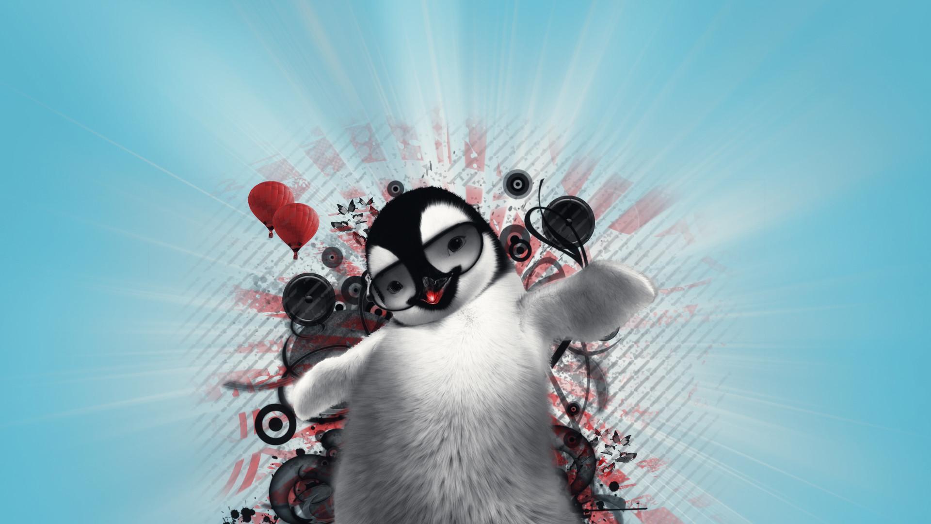 dancing wallpapers penguin wallpaper cute 1920×1080