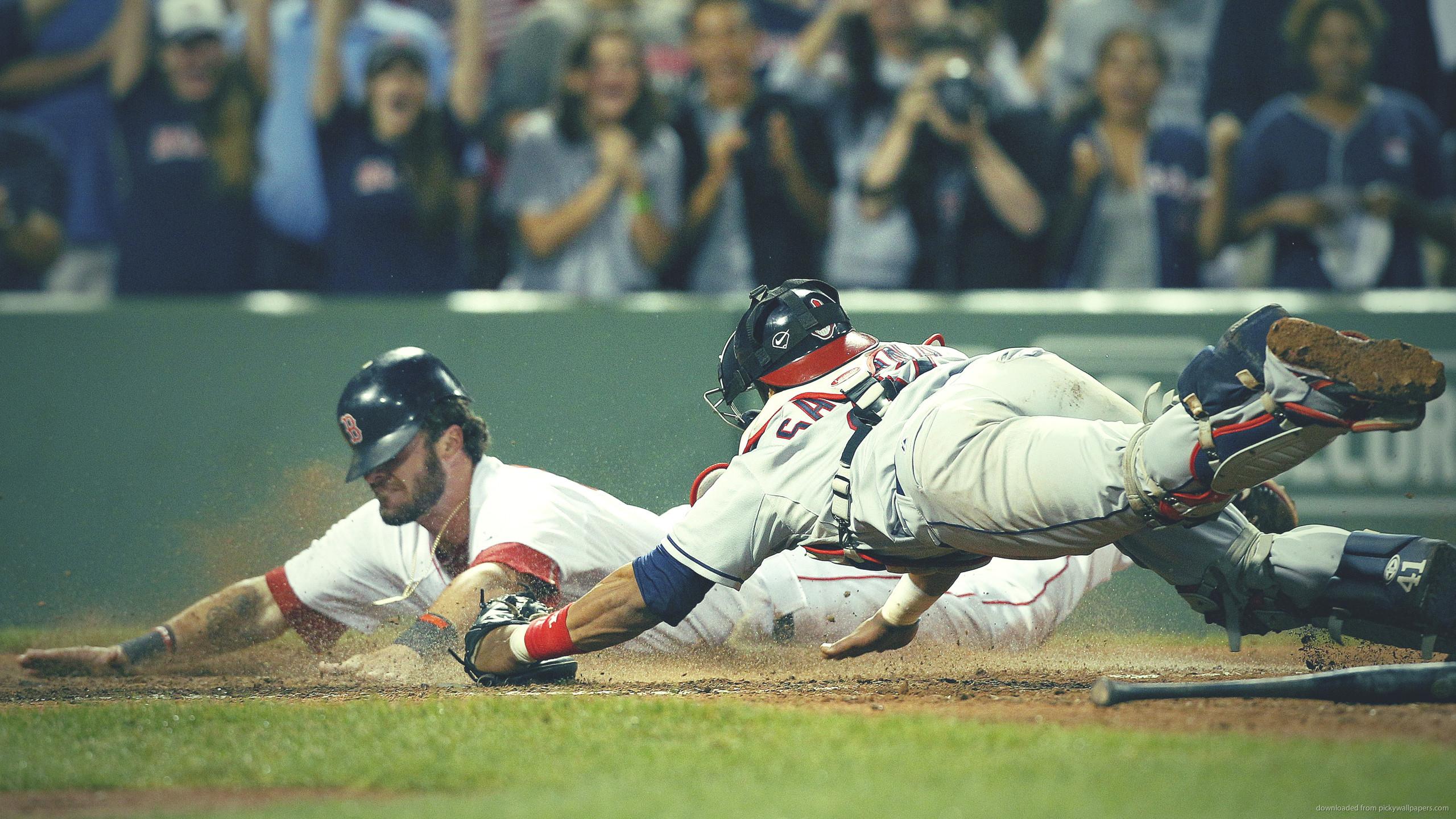 Red Sox Jarrod Saltalamacchia anв Cleveland Indians Carlos Santana for  2560×1440