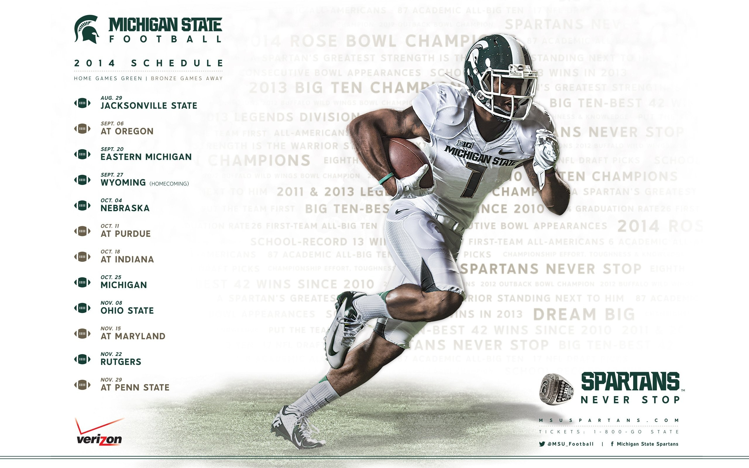 MICHIGAN STATE SPARTANS college football wallpaper | | 595900 |  WallpaperUP
