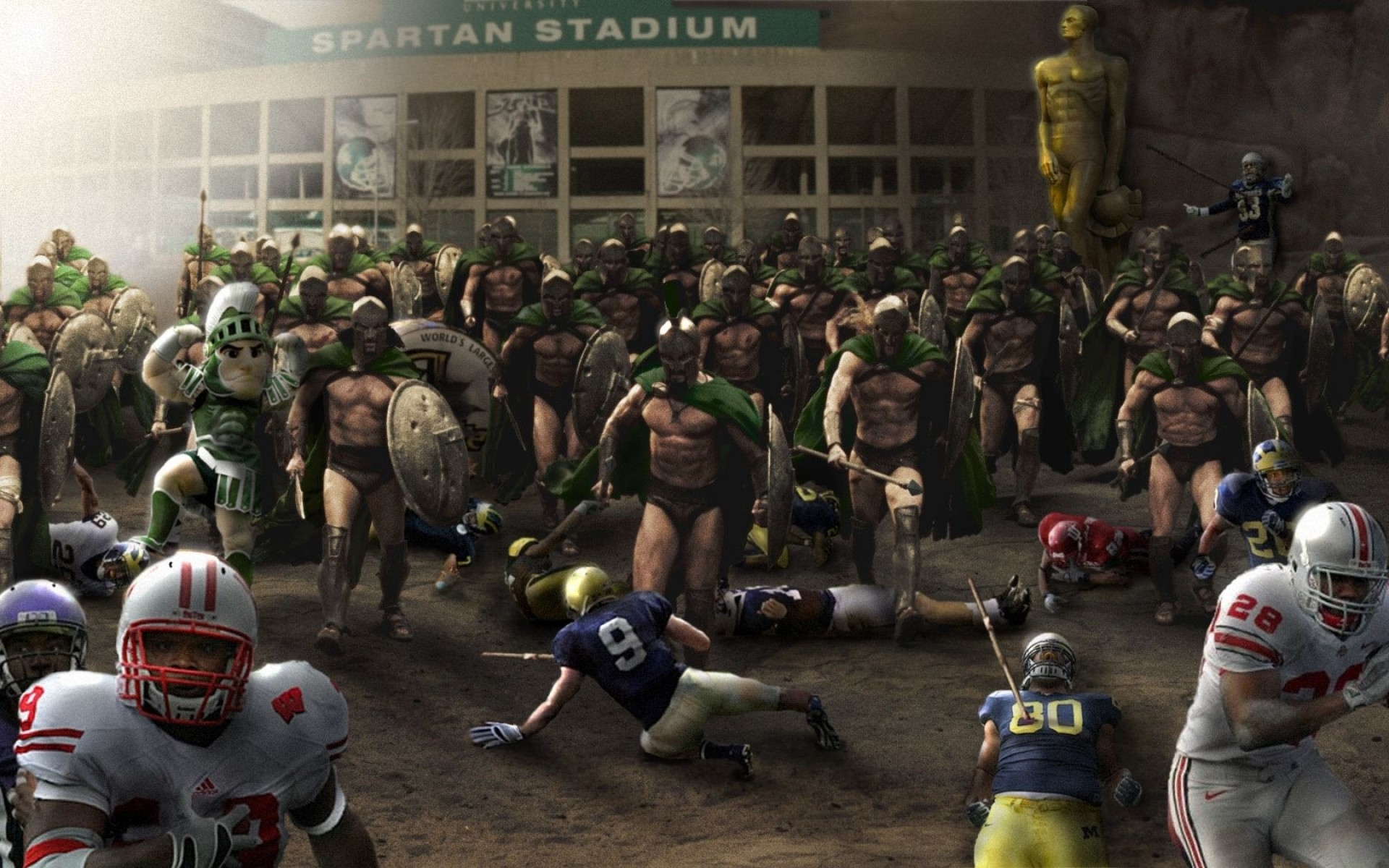 spartan american football big ten ncaa michigan state spartans 1680×1050 wallpaper  Wallpaper HD