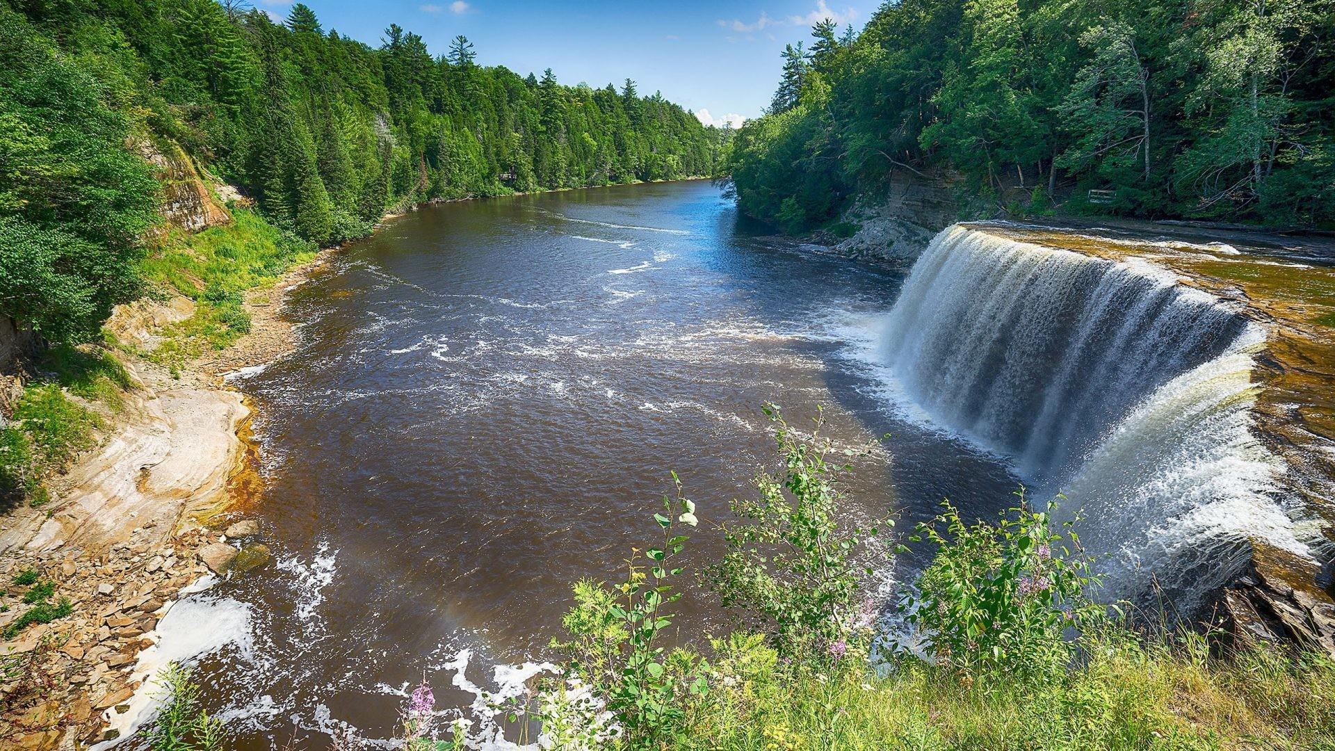 Tahquamenon Falls Tahquamenon State Park Michigan United … michigan state  wallpaper hd …