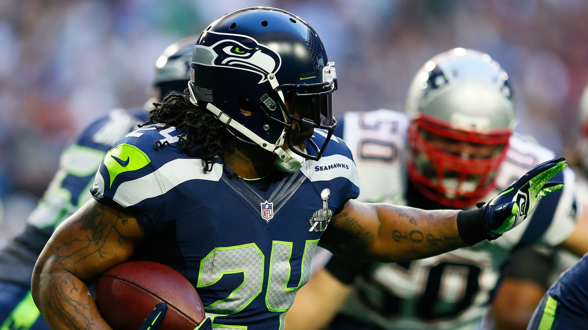Marshawn Lynch: 'I was expecting the ball' on decisive Super Bowl play – LA  Times
