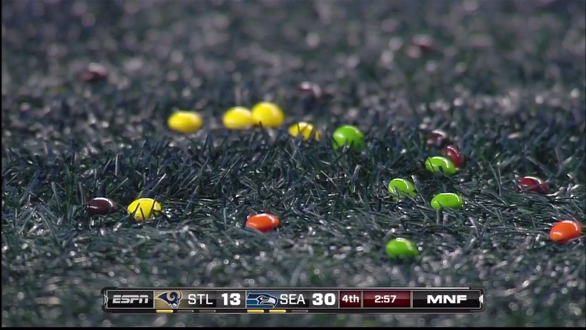 Skittles on the field