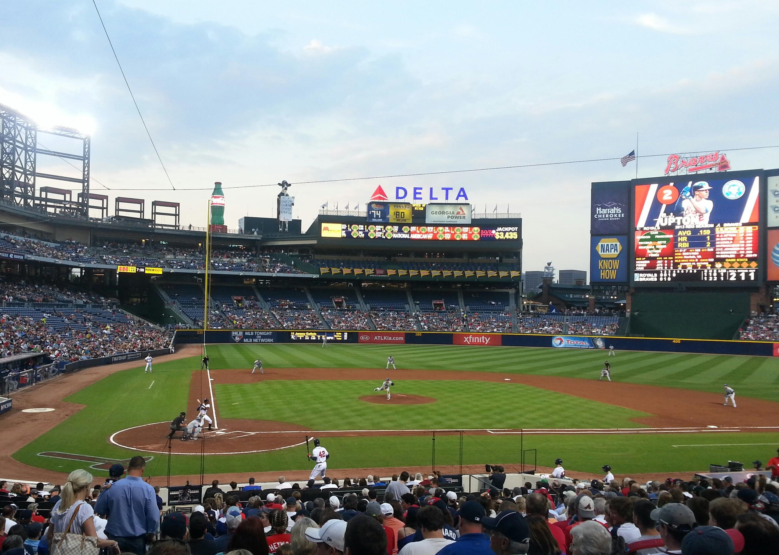 Turner Field, Kansas City Royals vs. Atlanta Braves, 4/16/13, bottom of the  fourth