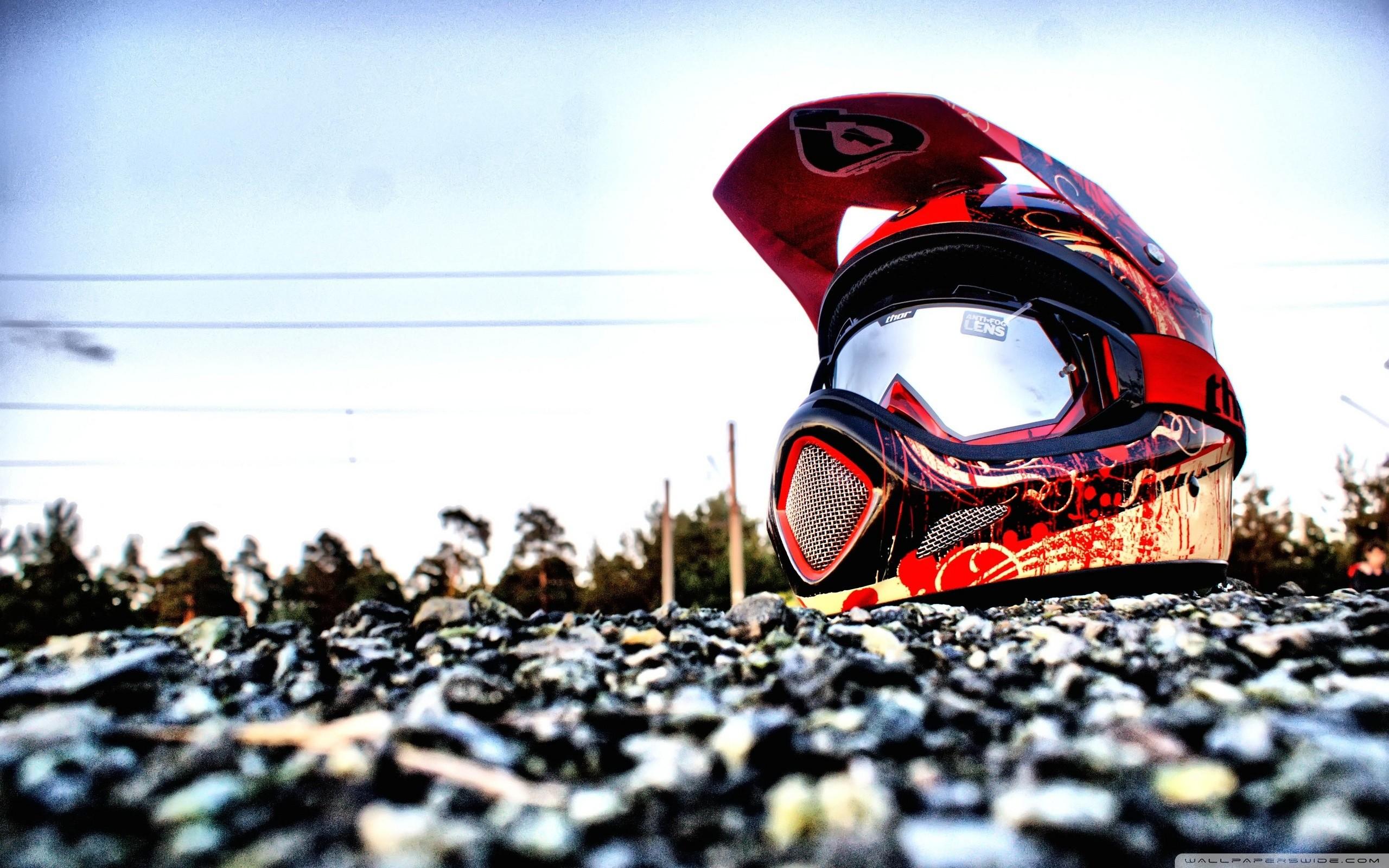 Downhill Biking Helmet HD Wide Wallpaper for Widescreen