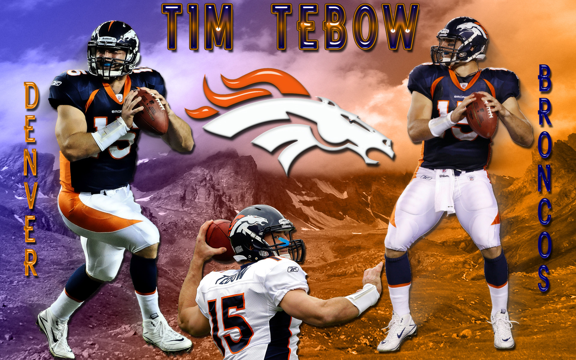Wallpapers By Wicked Shadows: Tim Tebow Denver Broncos Wallpaper