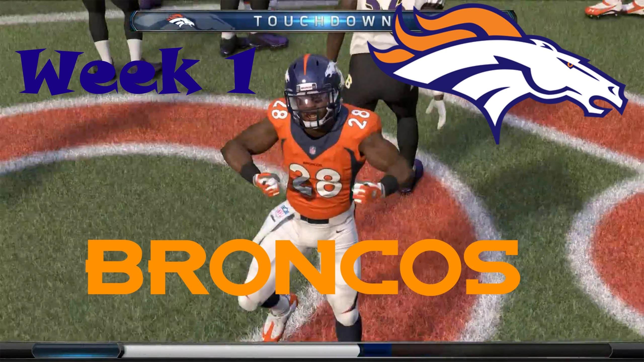 Madden NFL 16 Denver Broncos Franchise Week 1