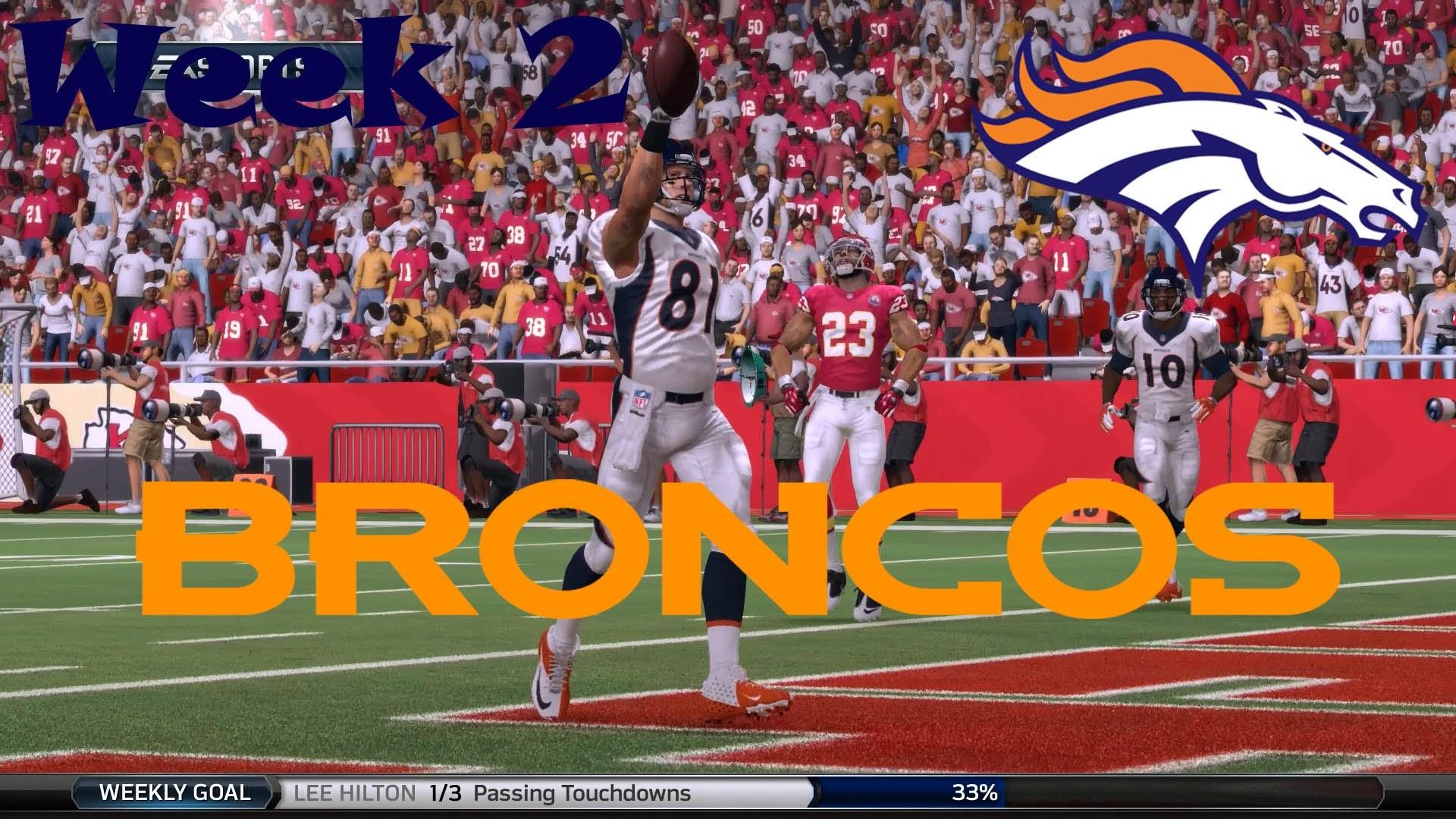 NFL Madden 16 Denver Broncos Franchise Week 2