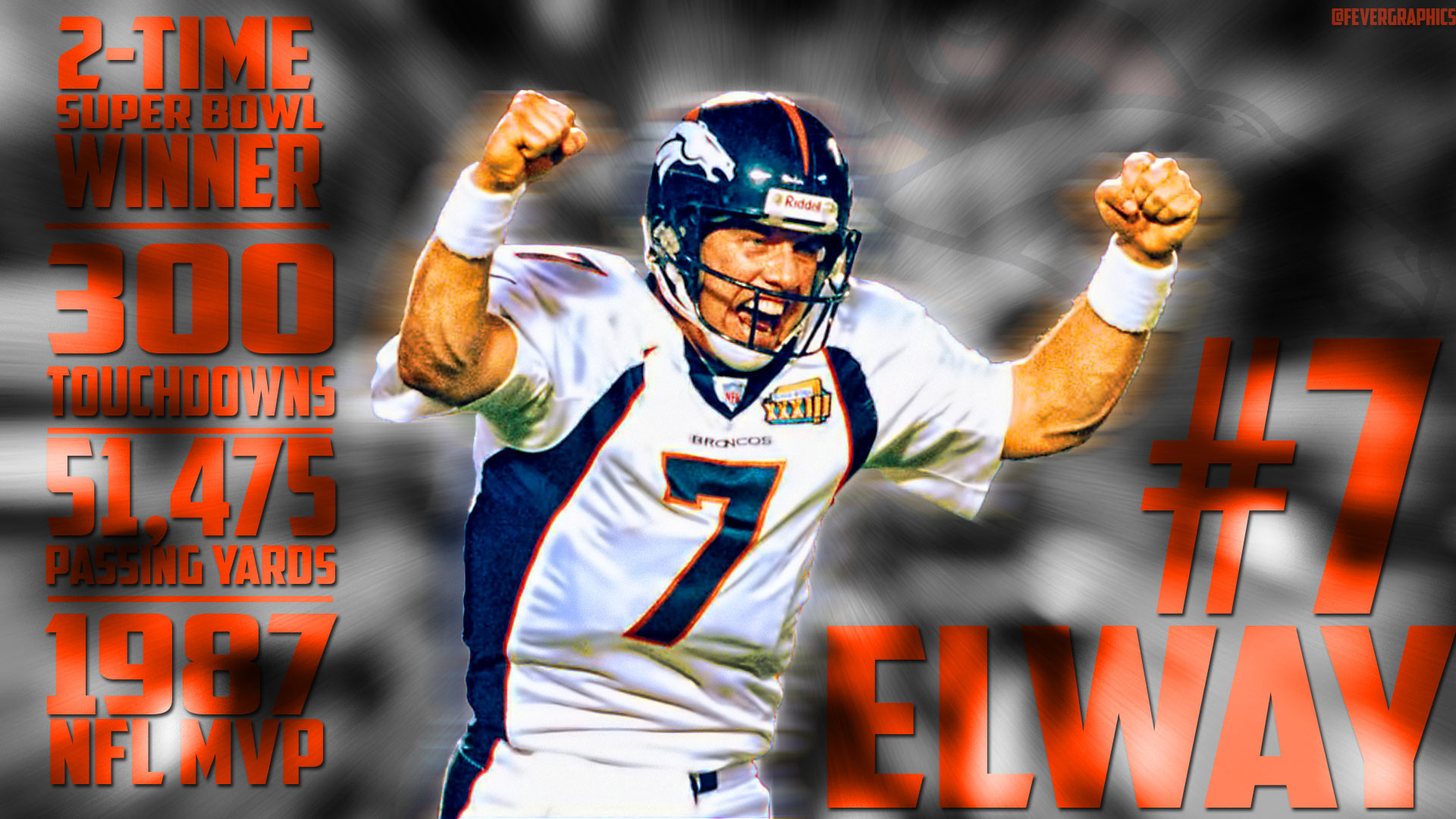 John Elway wallpaper for this Broncos sub! I hope you guys like it! I  worked really hard on it!