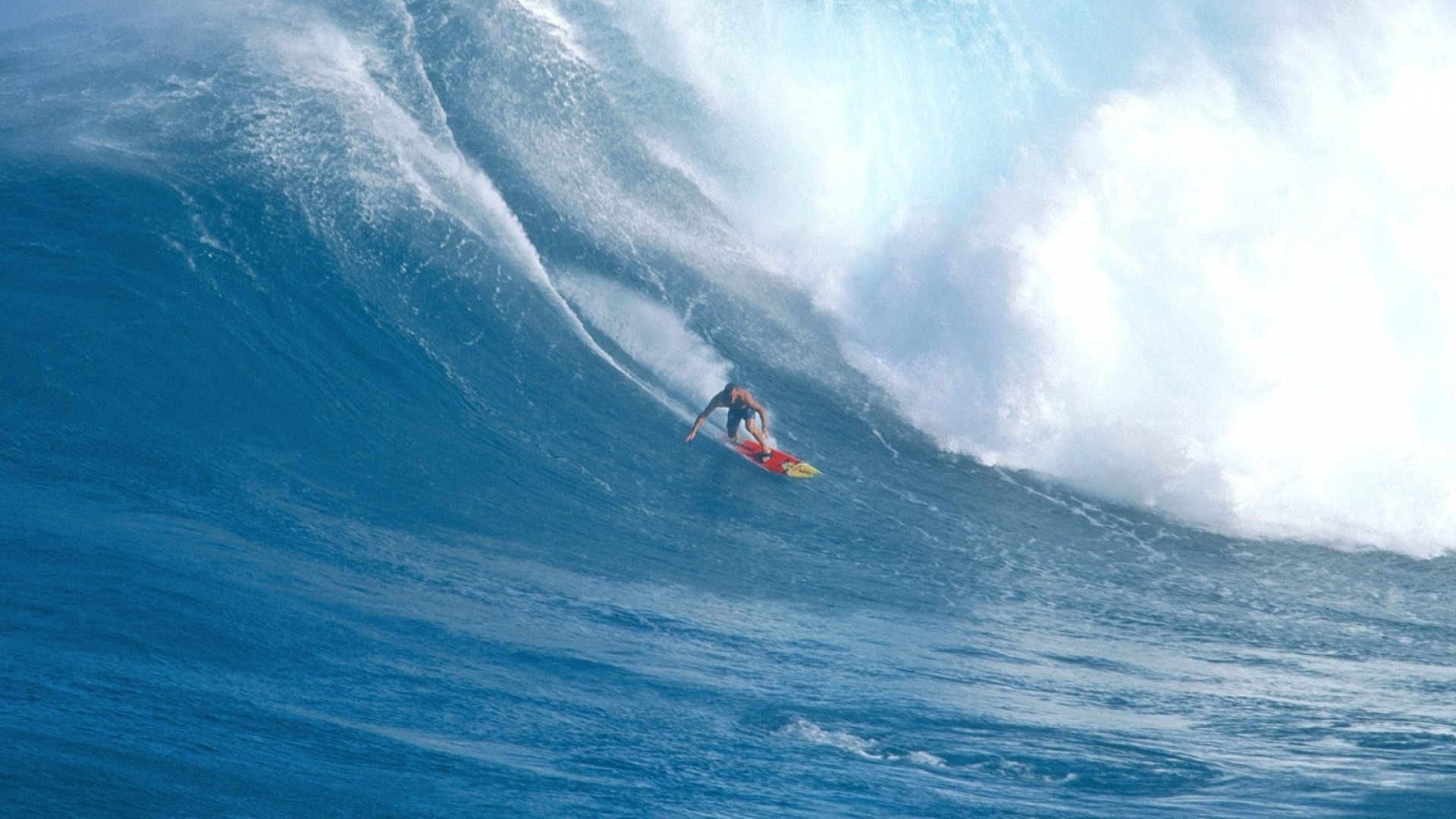Preview wallpaper surfing, guy, board, wave, hawaii 1920×1080