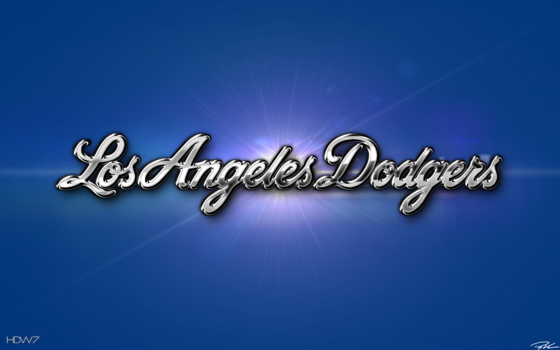 los angeles dodgers 3d chrome wallpaper